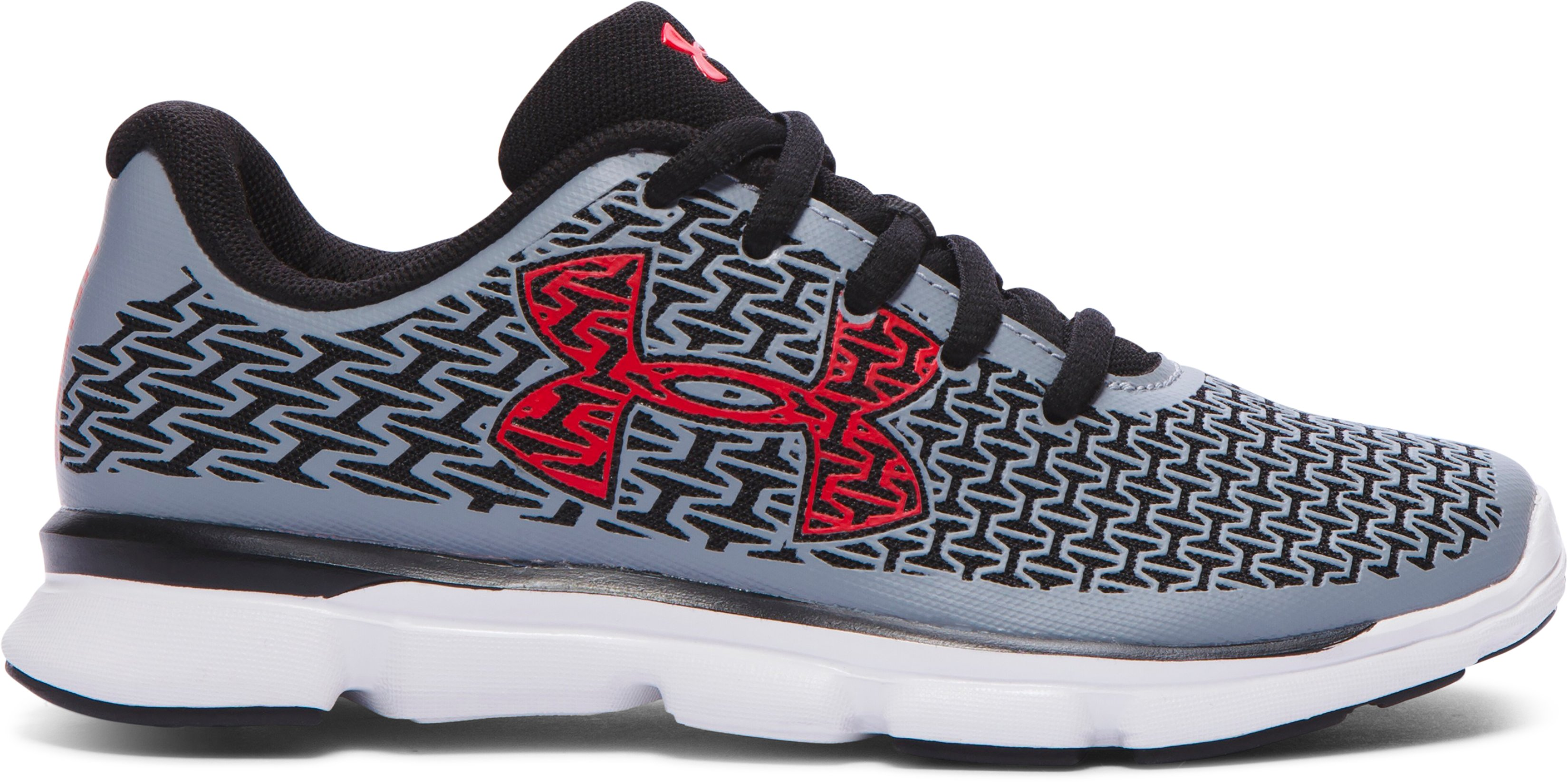 Boys' Pre-School UA ClutchFit® RebelSpeed Running Shoes, Steel, zoomed image