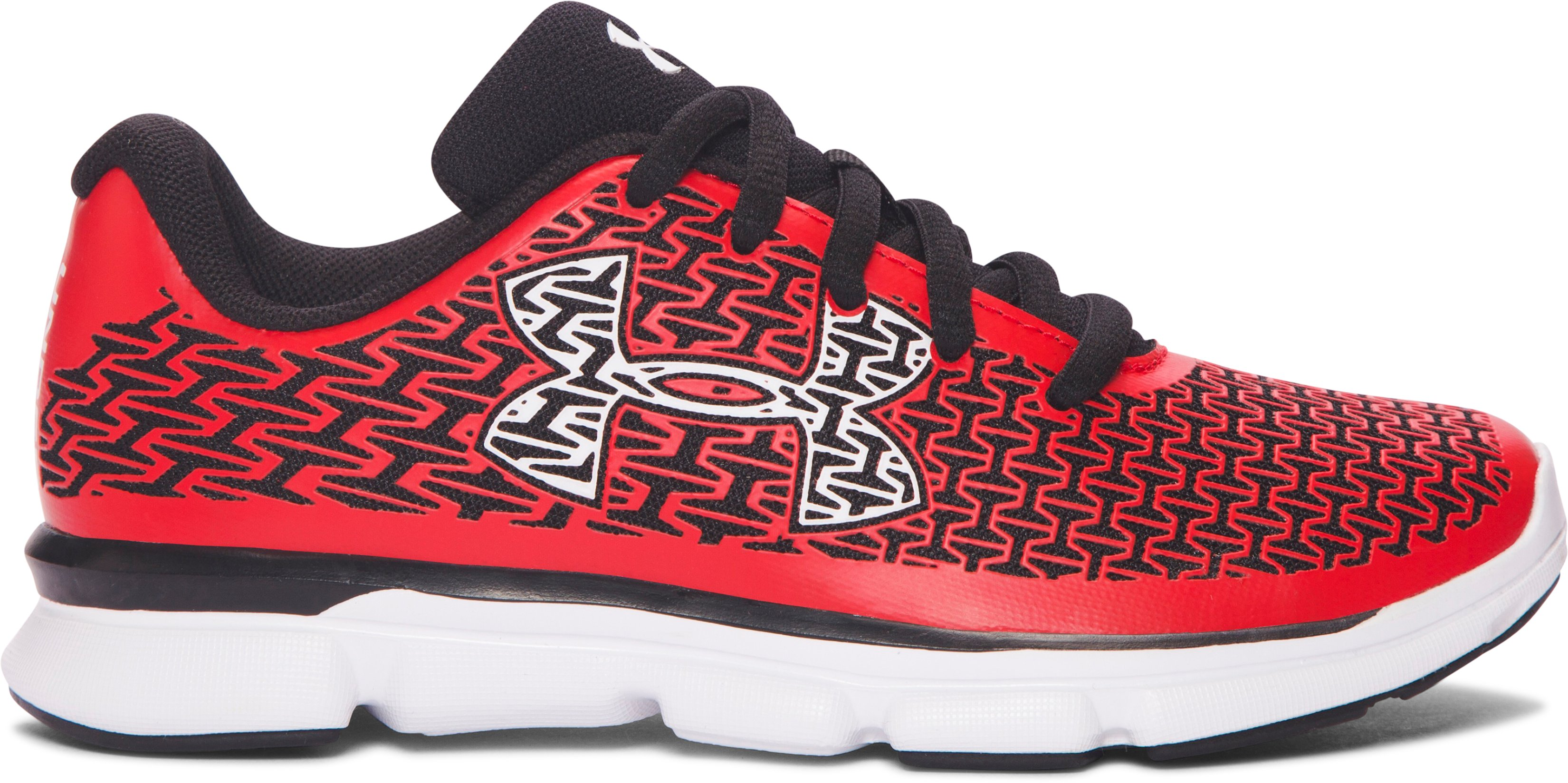 Boys' Pre-School UA ClutchFit® RebelSpeed Running Shoes, ANTHEM RED, undefined