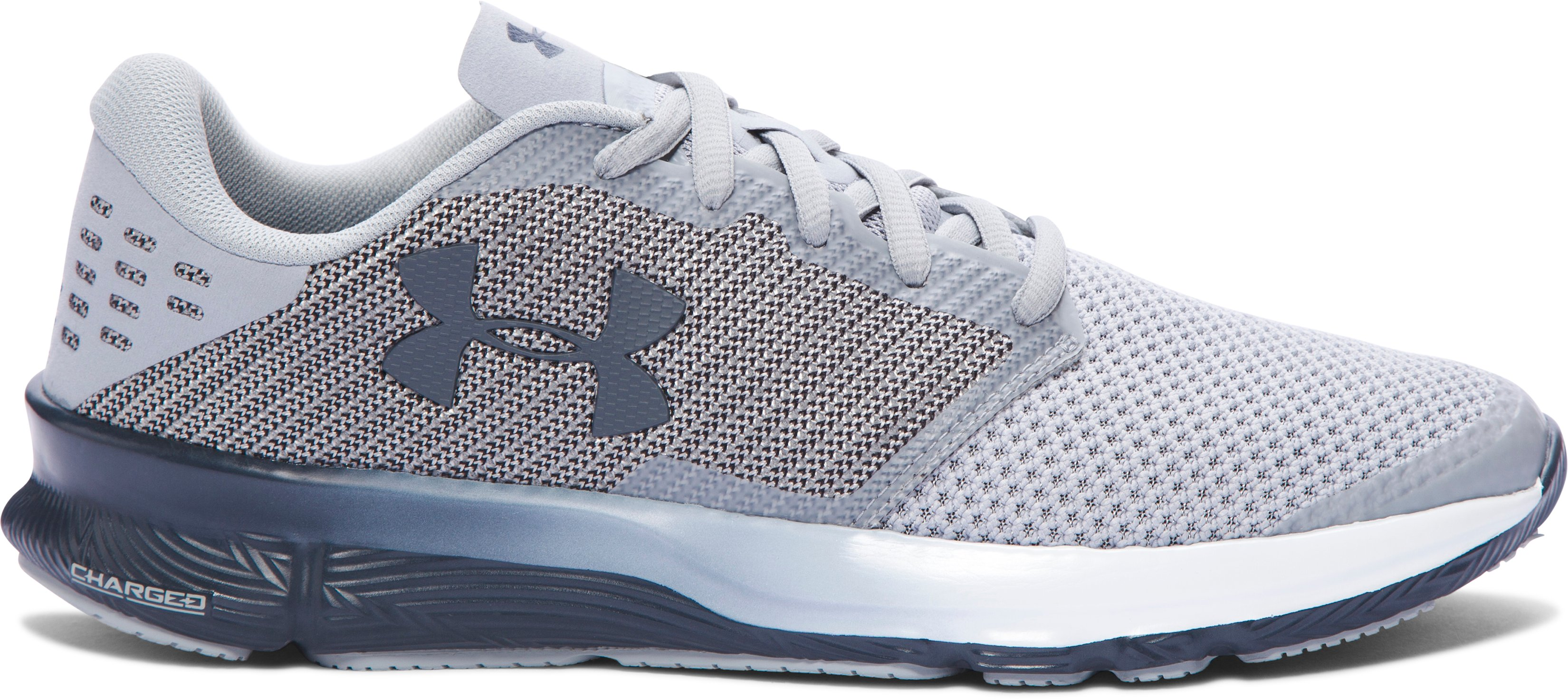 Men's UA Charged Reckless Running Shoes, OVERCAST GRAY