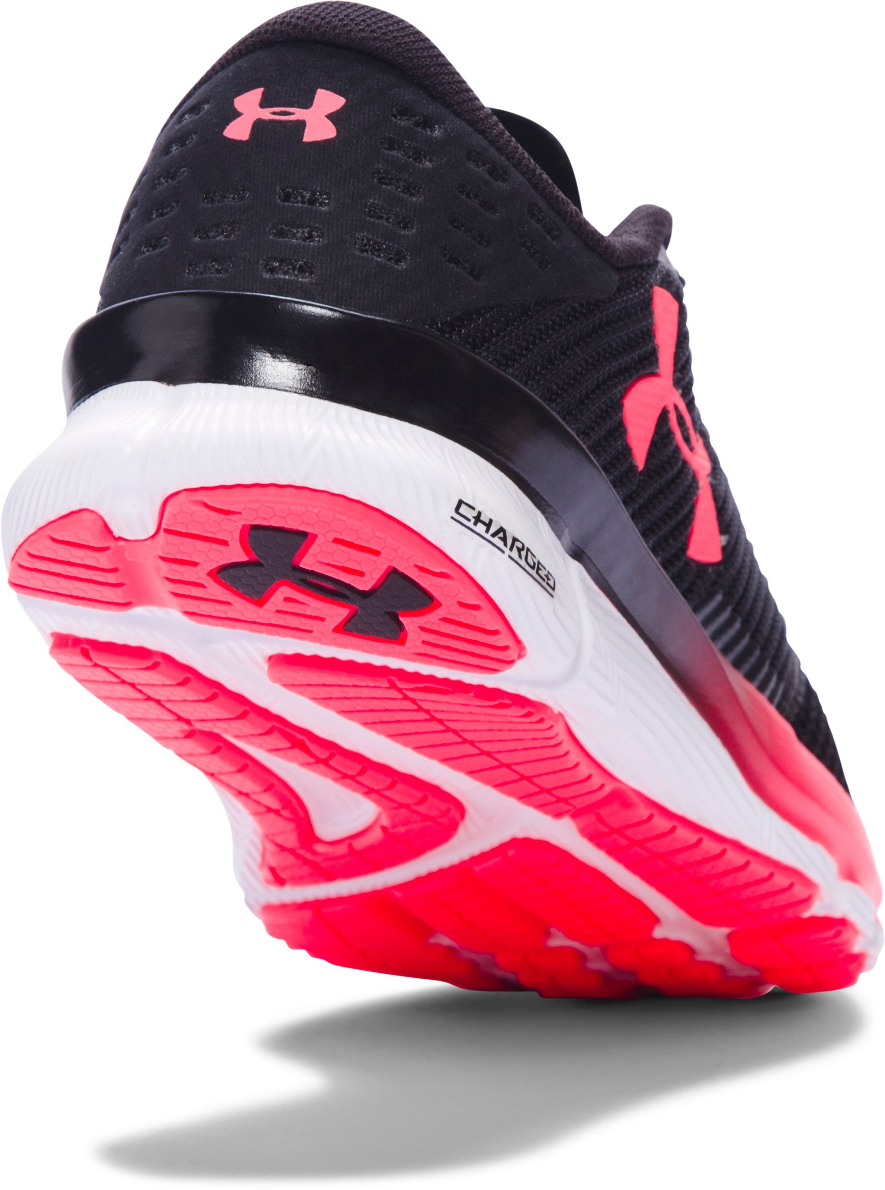 Women's UA Charged Reckless Running Shoes, Black ,