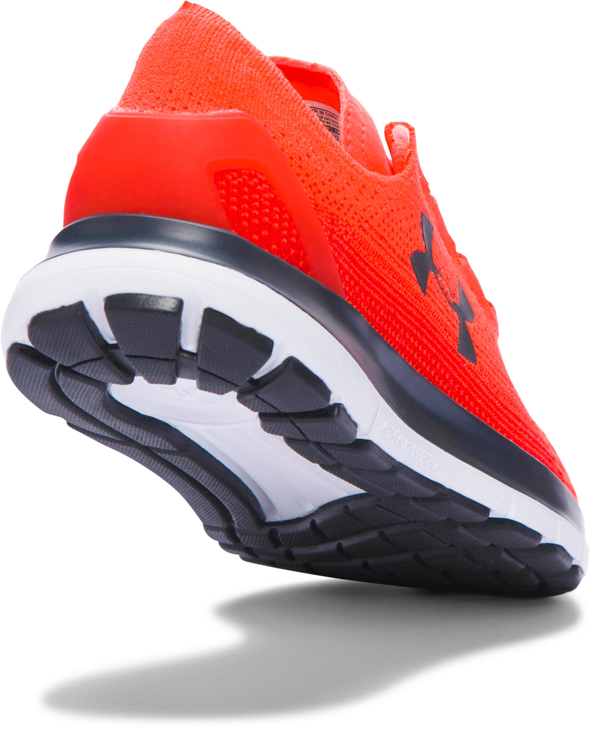 Boys' Grade School UA SpeedForm® Slingride Running Shoes, BOLT ORANGE,