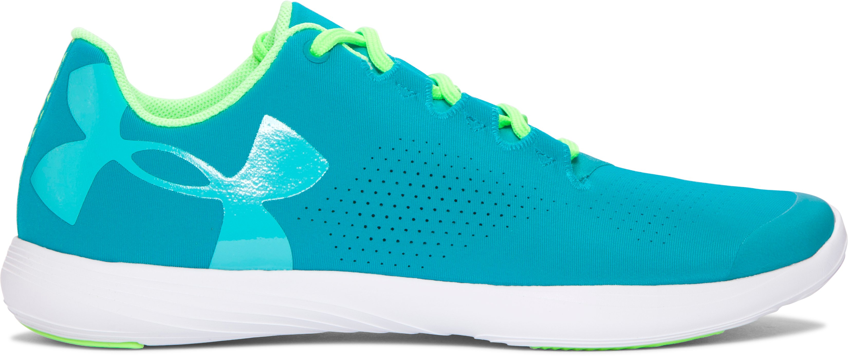 Girls' Grade School UA Street Precision Low Training Shoes, TAHITIAN TEAL,