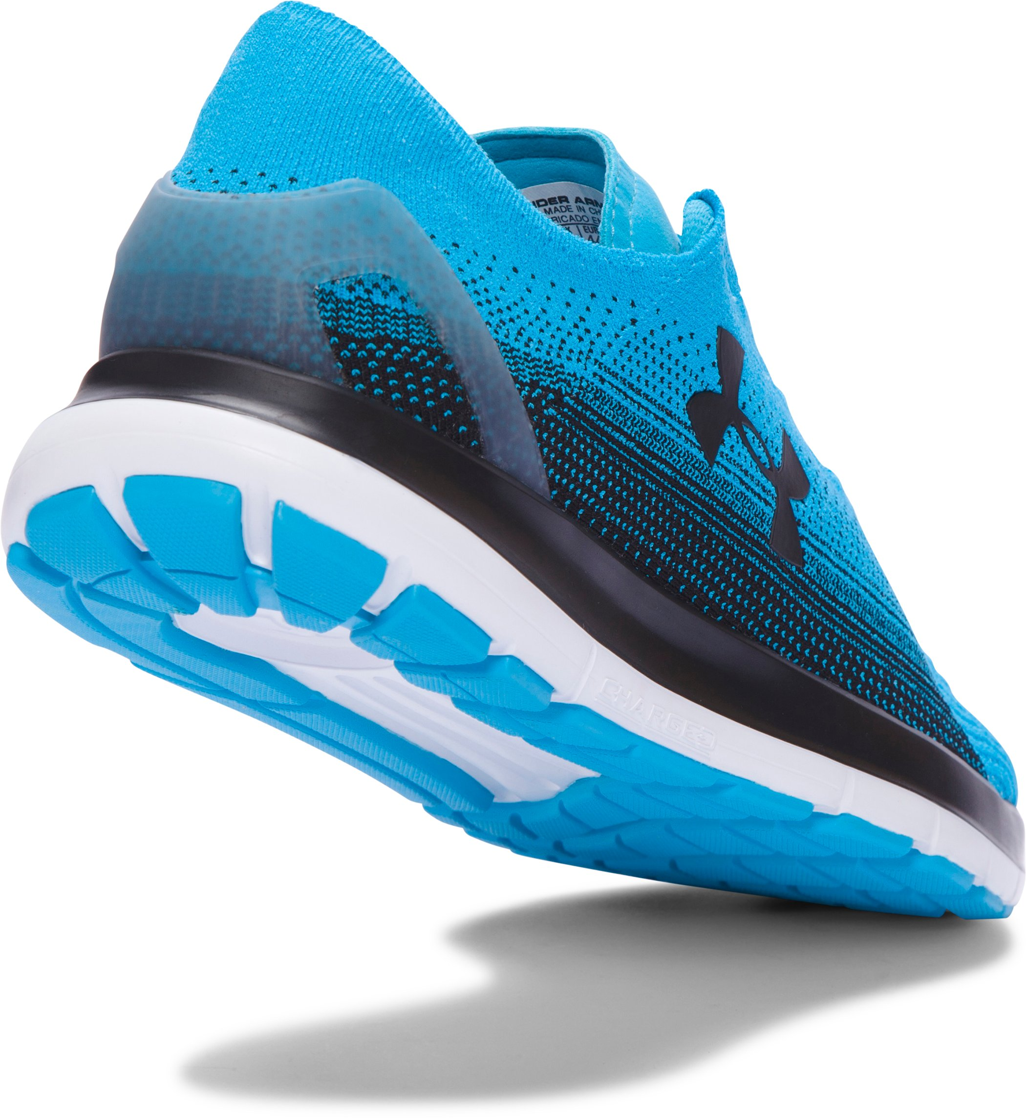 Men's UA SpeedForm® Slingride Fade Running Shoes, MERIDIAN BLUE,