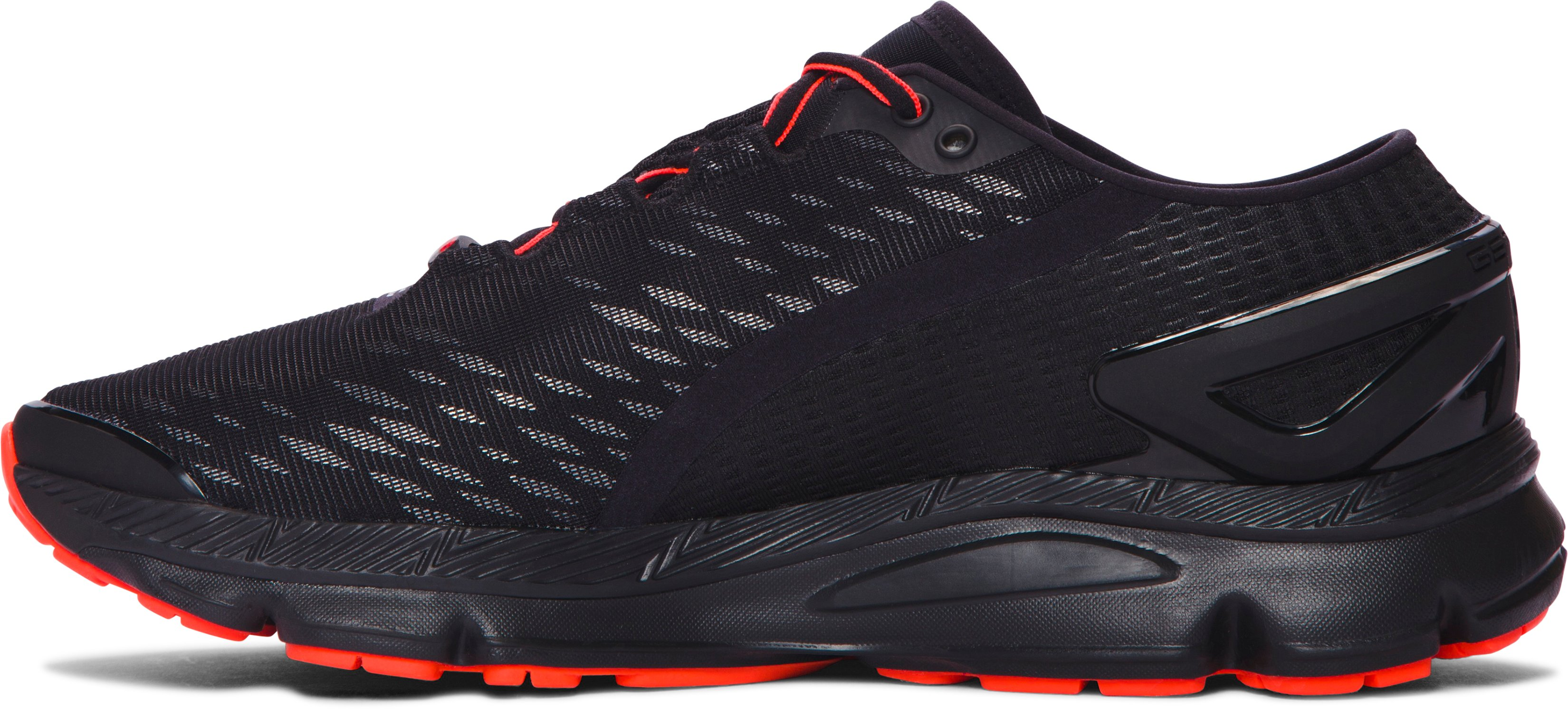 Men's UA SpeedForm® Gemini 2 Night Record-Equipped Running Shoes, Black ,