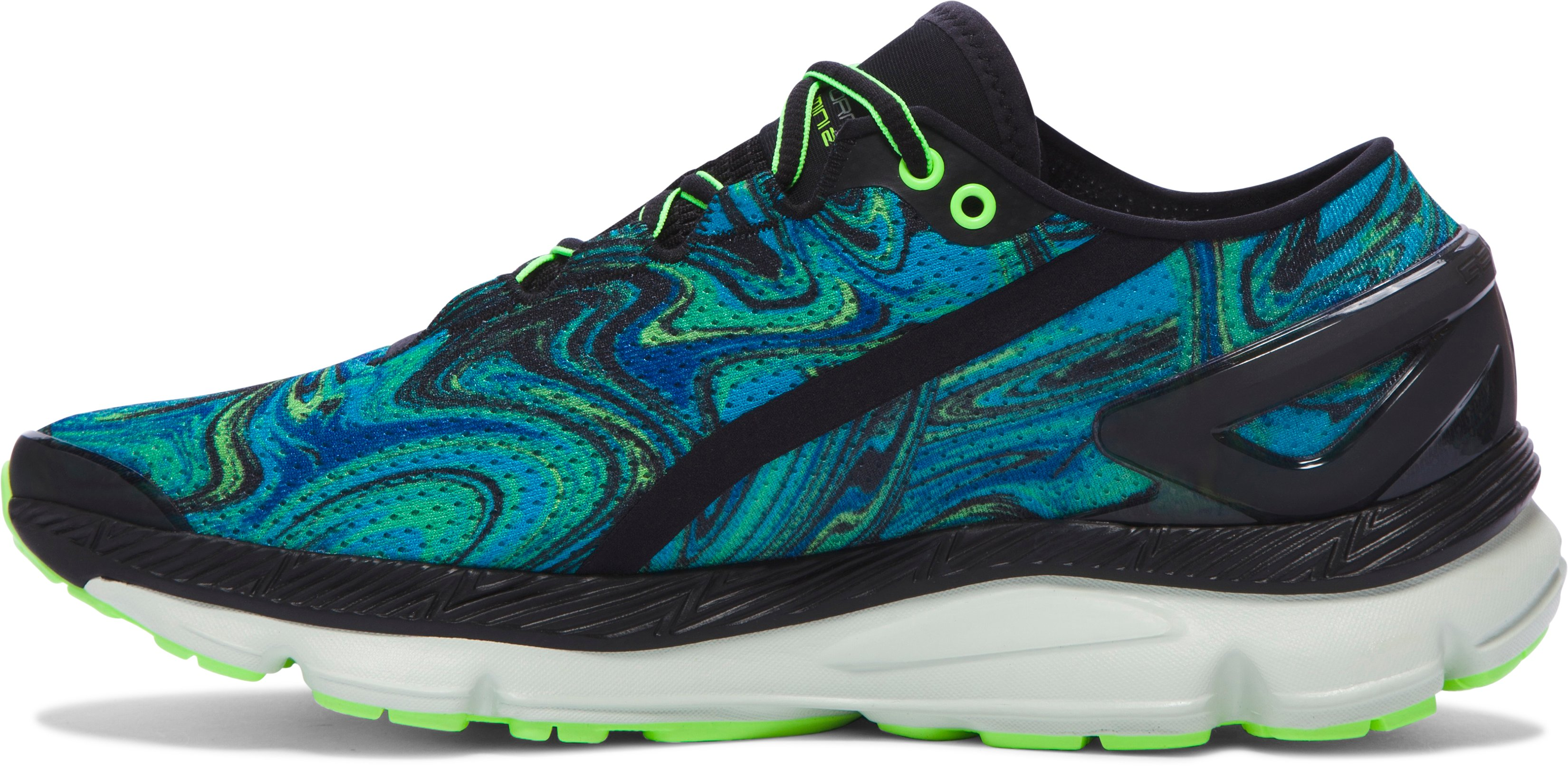 Men's UA SpeedForm® Gemini 2 Psychedelic Running Shoes, MERIDIAN BLUE