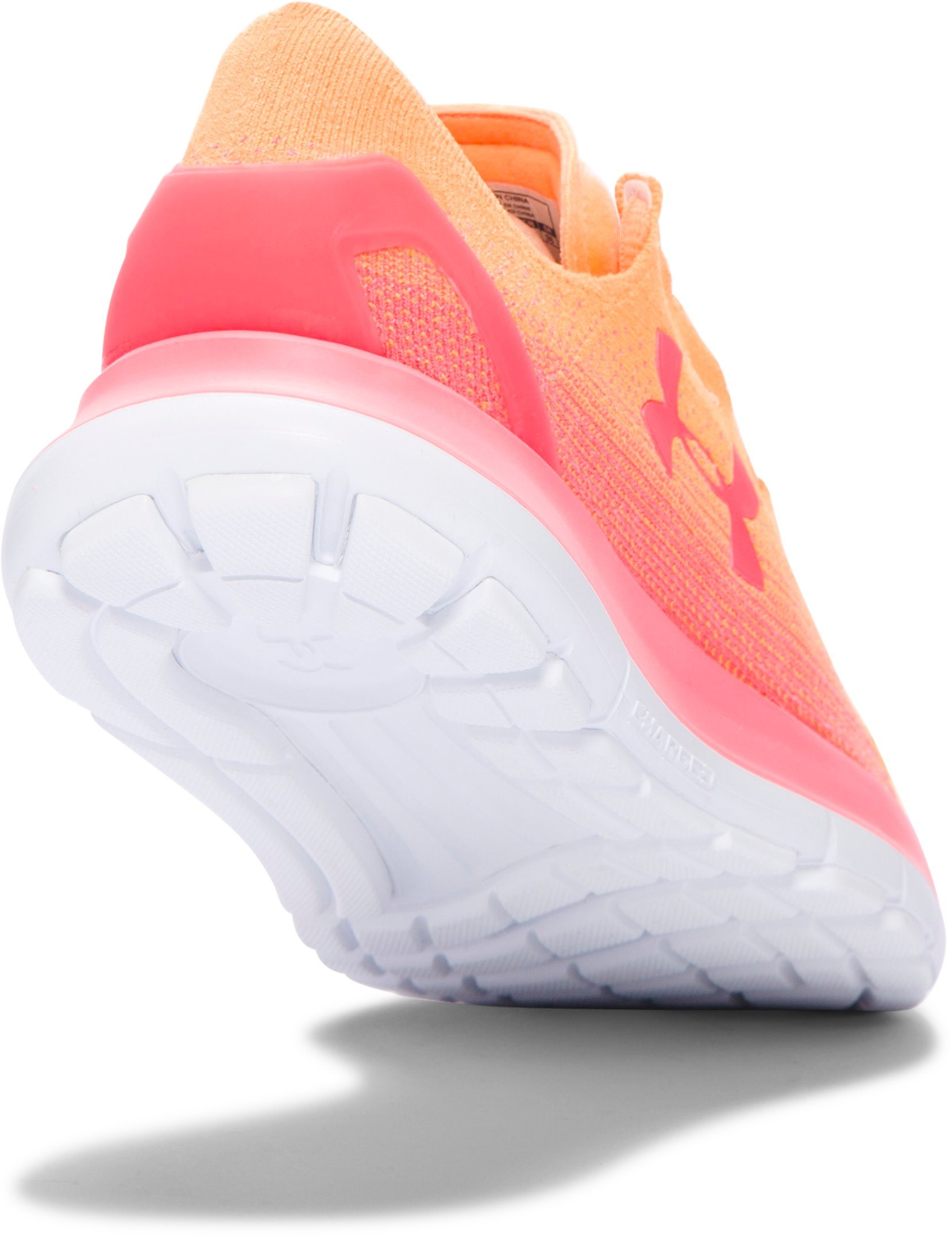 Women's UA SpeedForm® Slingride Fade Running Shoes, GLOW ORANGE,