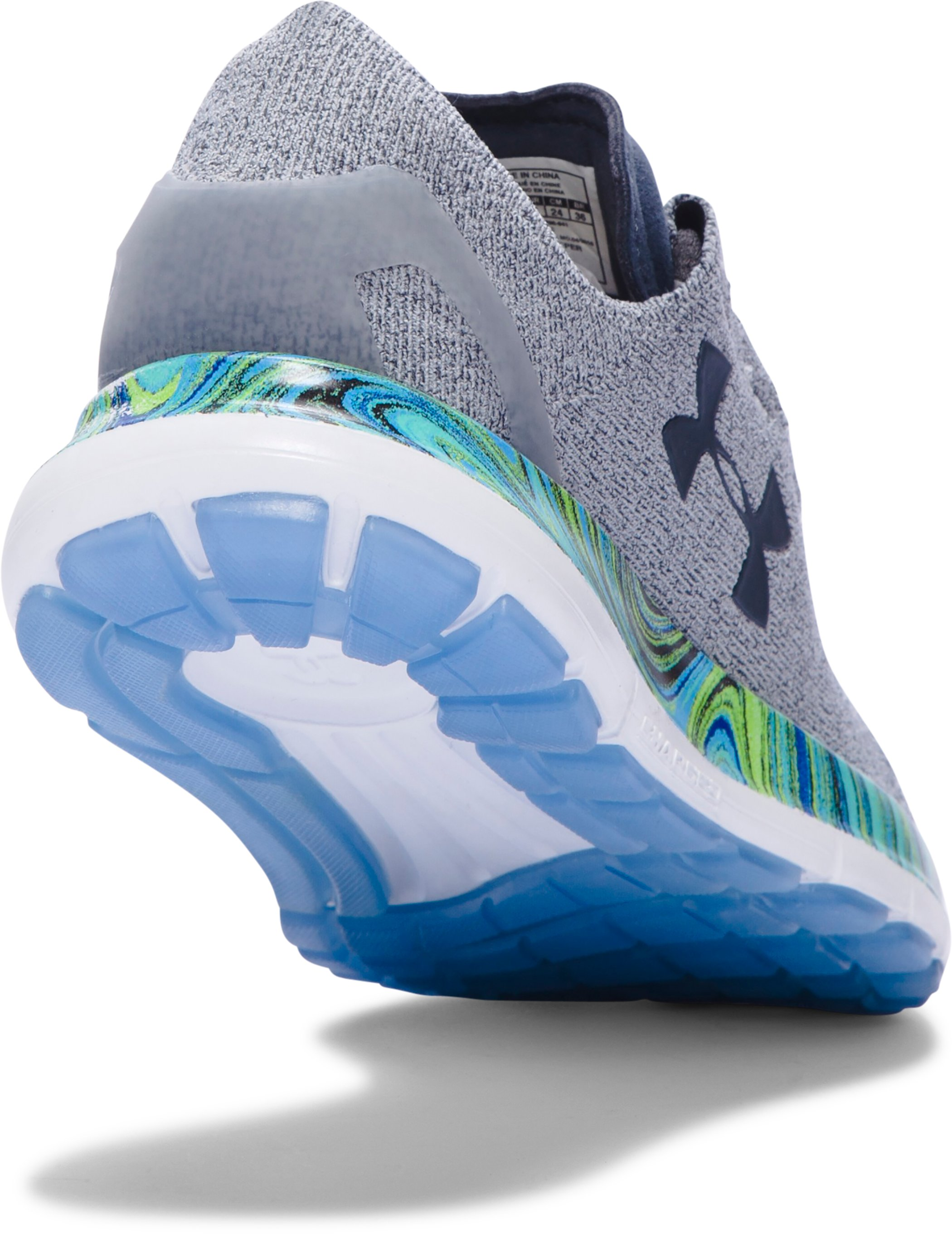 Women's UA SpeedForm® Slingride Psychedelic Running Shoes, OVERCAST GRAY