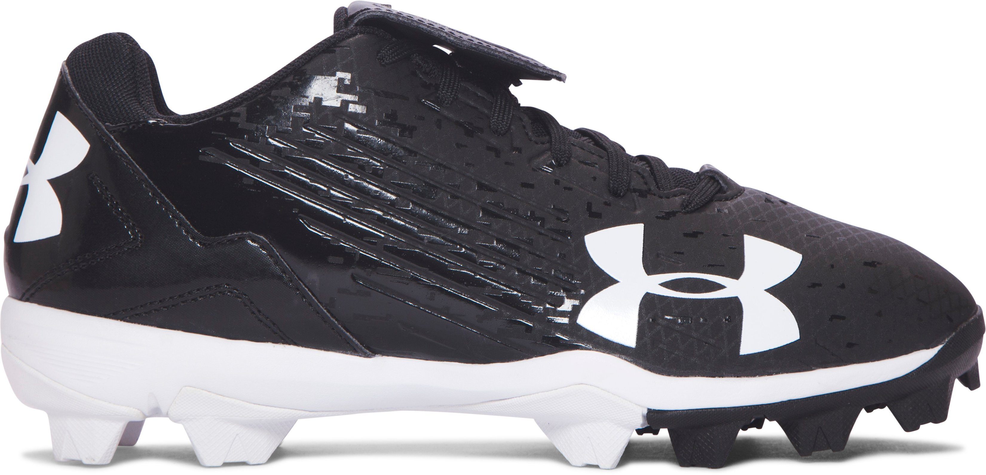 Boys' UA MLB Switch Low Jr. Baseball Cleats, Black , zoomed image