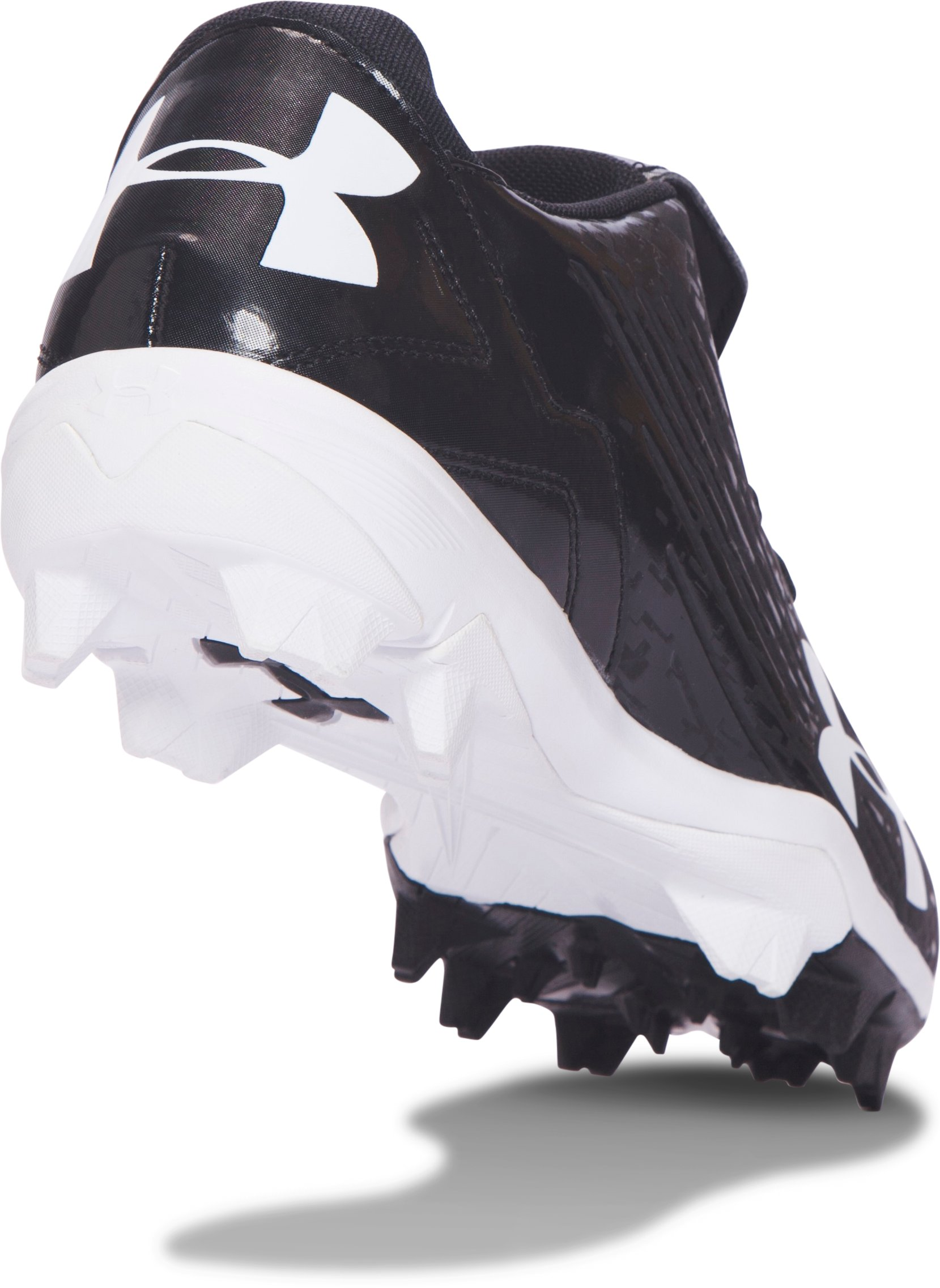 Boys' UA MLB Switch Low Jr. Baseball Cleats, Black ,