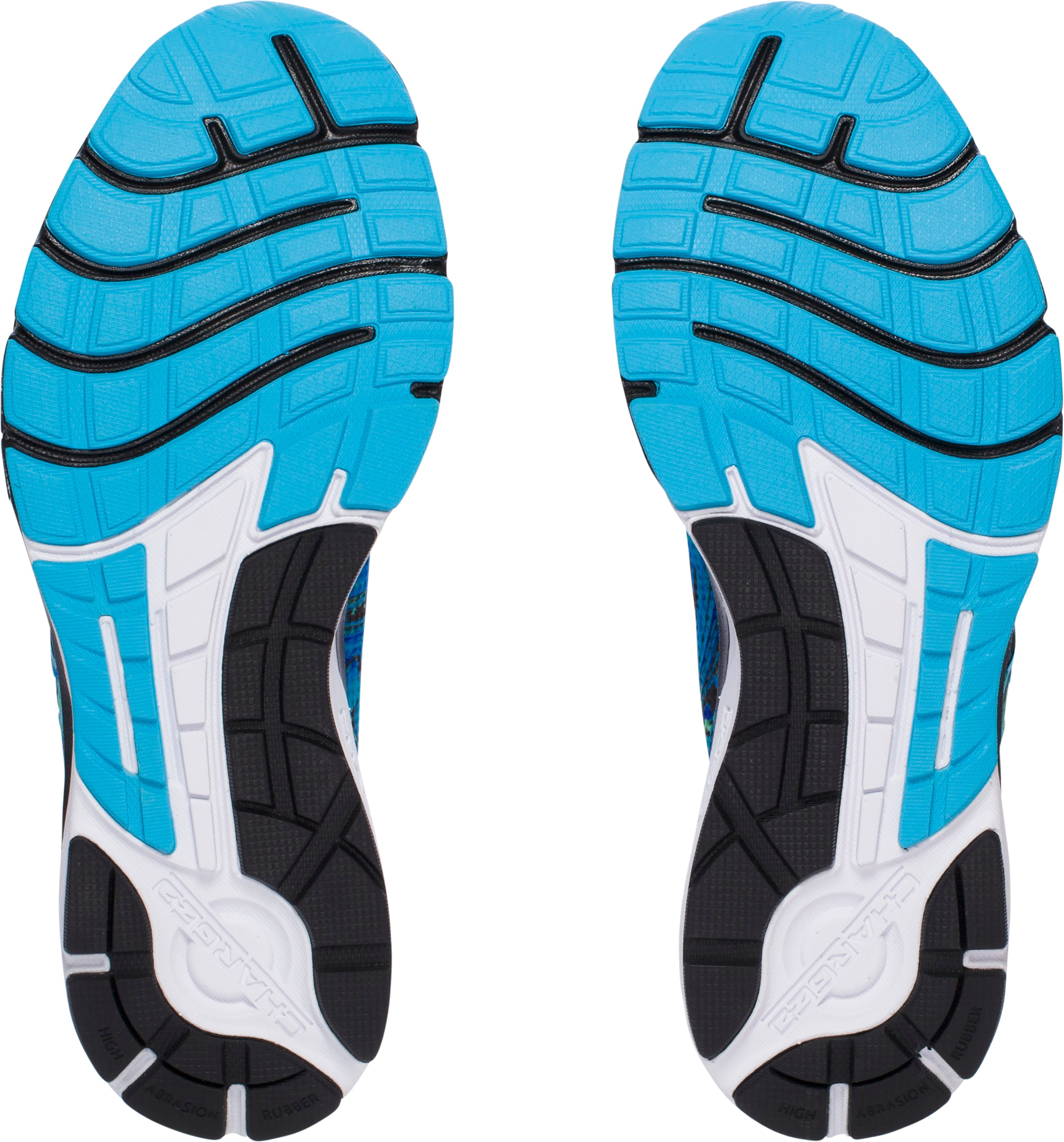Men's UA Charged Bandit 2 Psychedelic Running Shoes, MERIDIAN BLUE, undefined