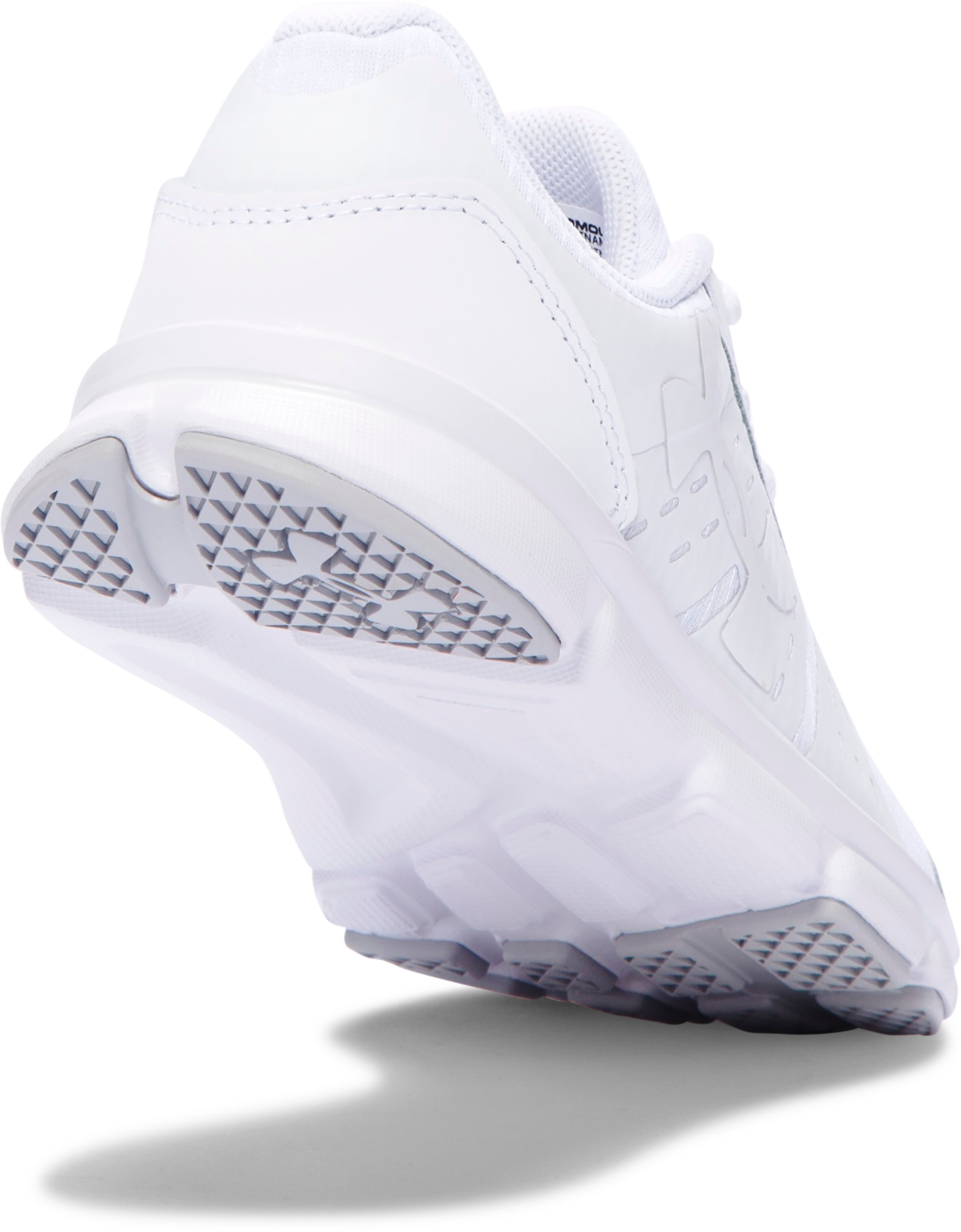 Kids' Pre-School UA Speed Swift Grit Uniform Running Shoes , White