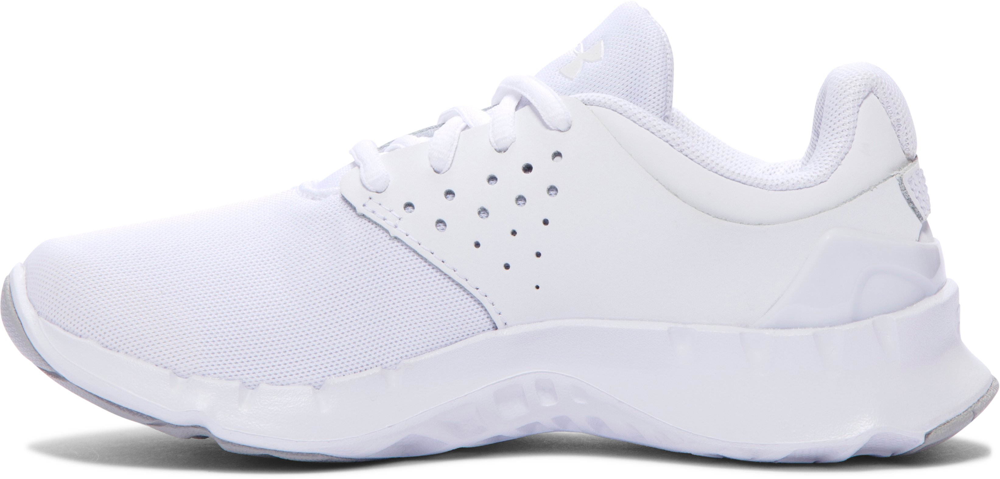 Kids' UA Pre-School Flow U Running Shoes, White