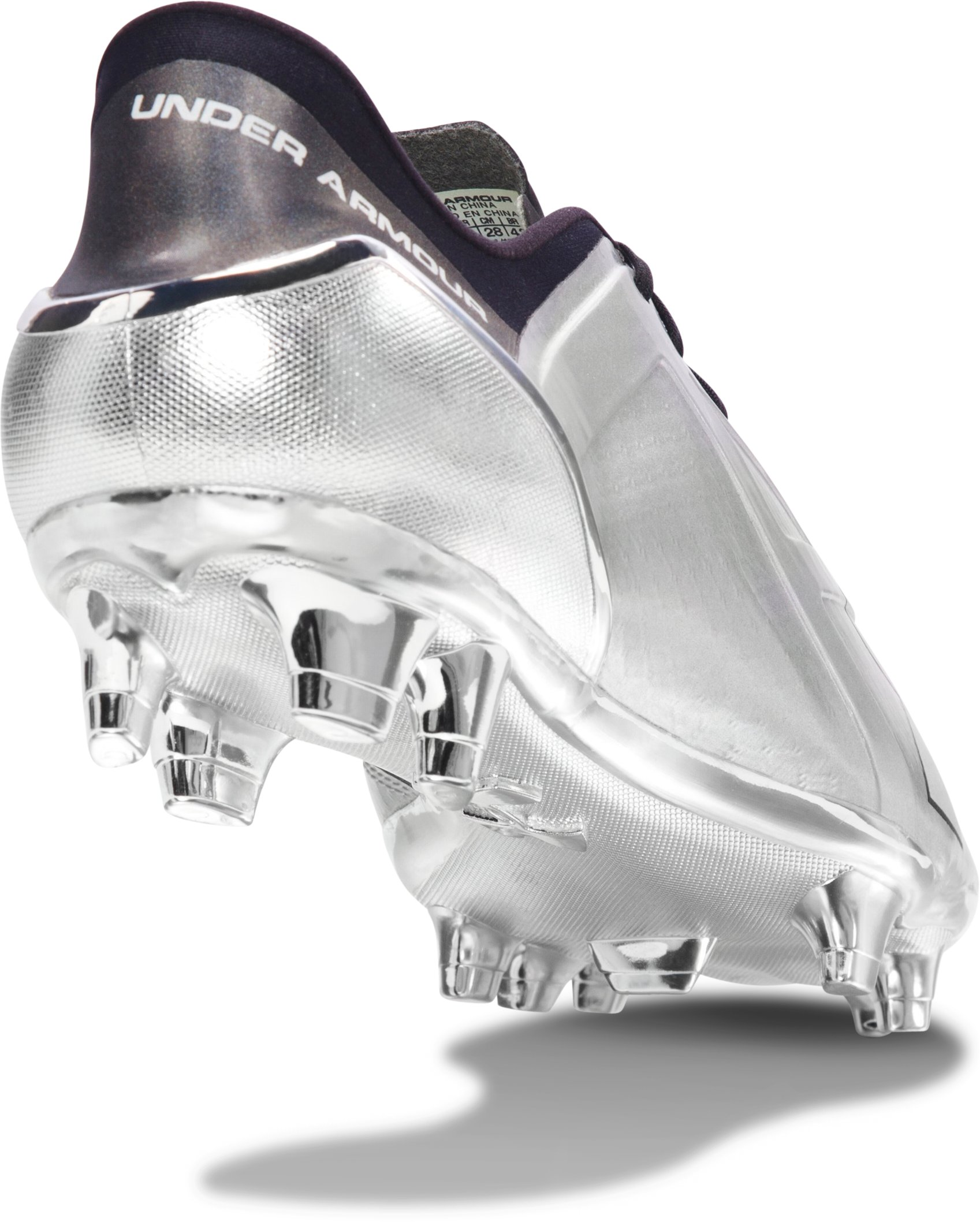 Men's UA Spotlight FG Soccer Cleats – Metallic Edition, Metallic Silver