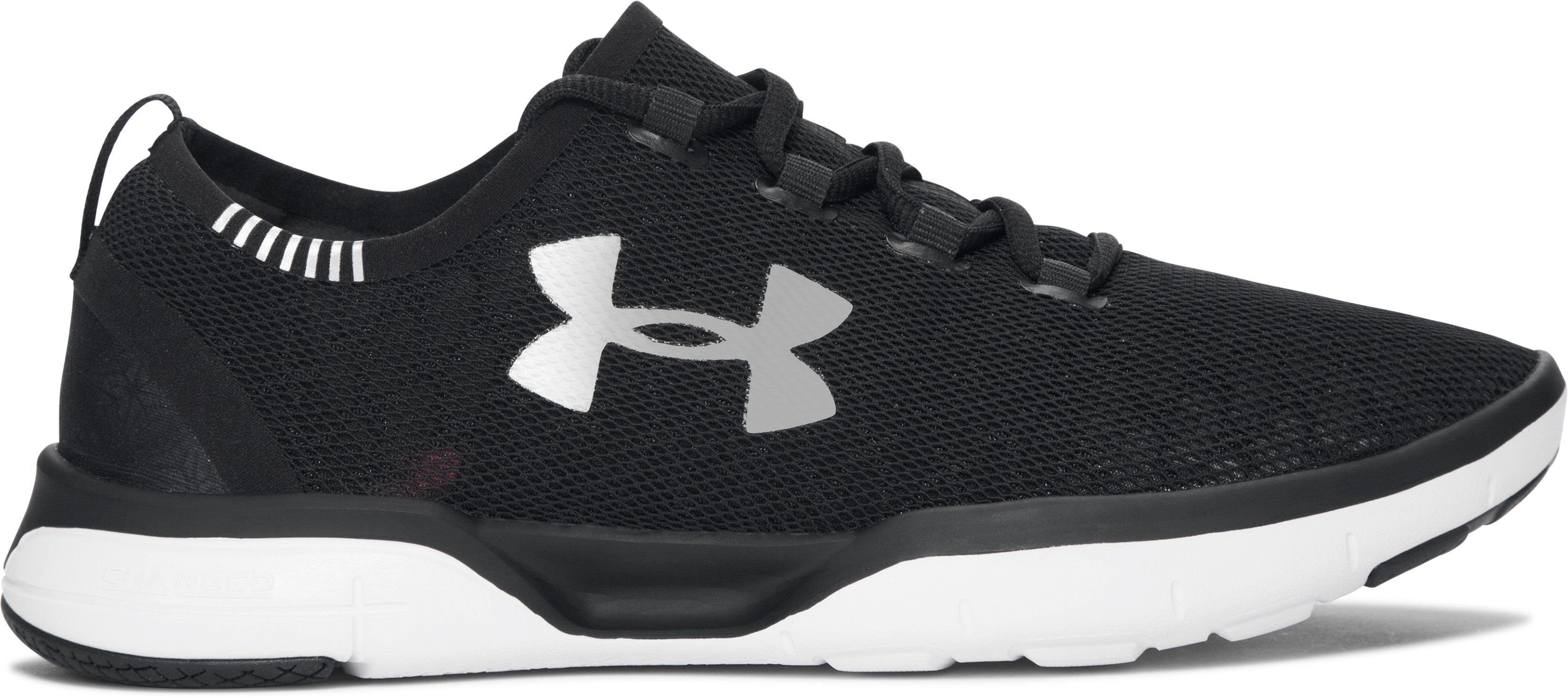 Girls' Grade School UA Charged CoolSwitch Running Shoes, Black , zoomed image