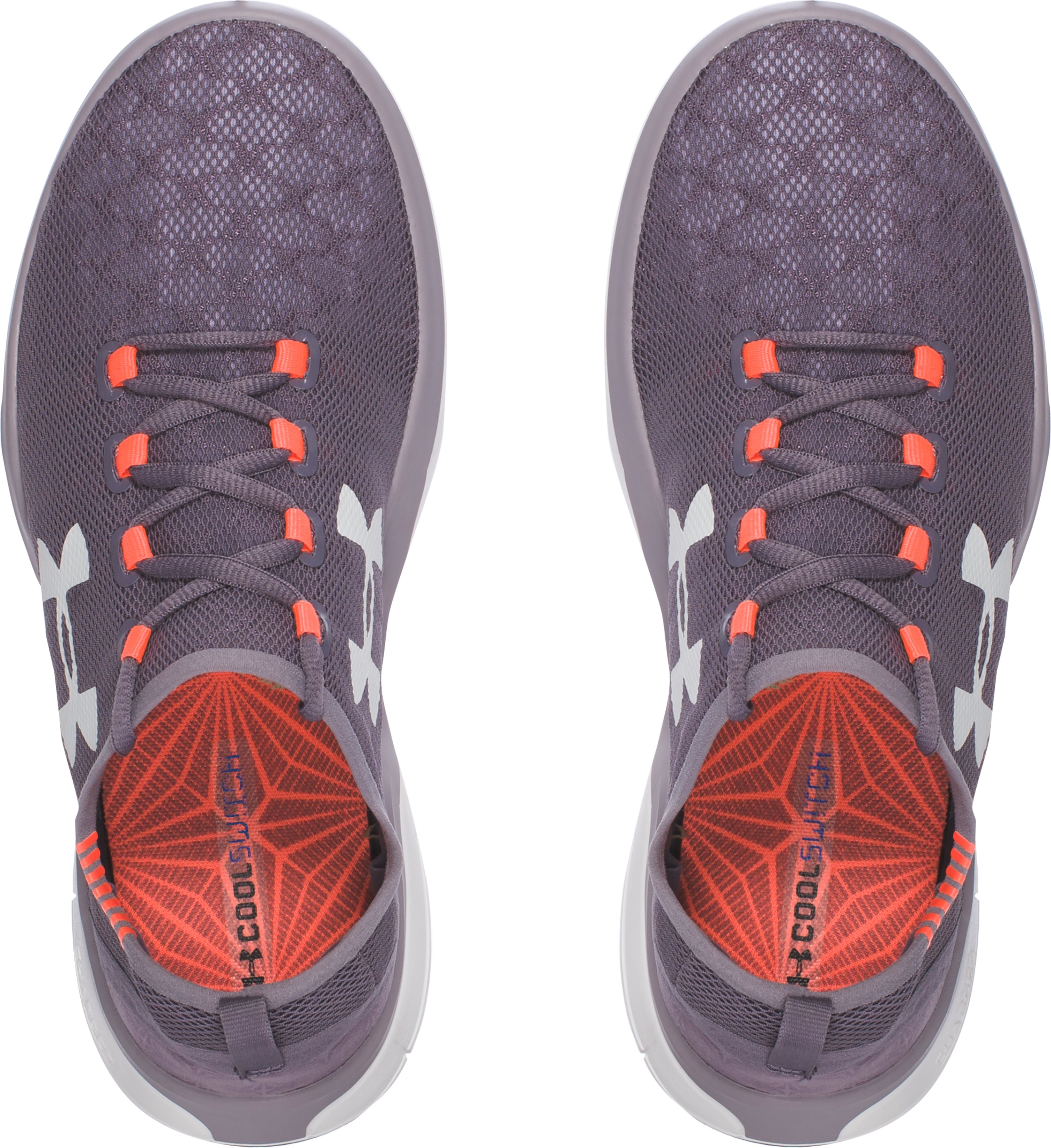 Girls' Grade School UA Charged CoolSwitch Running Shoes, FLINT,
