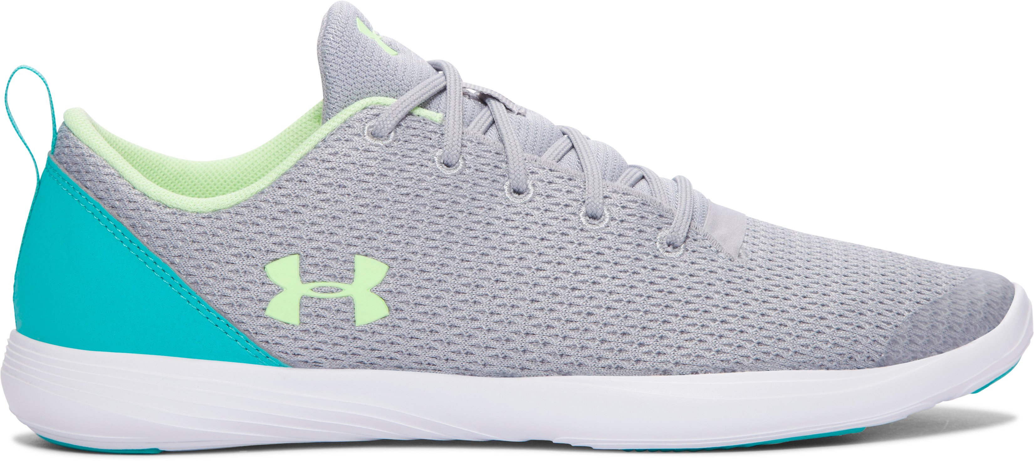 Girls' Grade School UA Street Precision Sport Low Shoes, OVERCAST GRAY