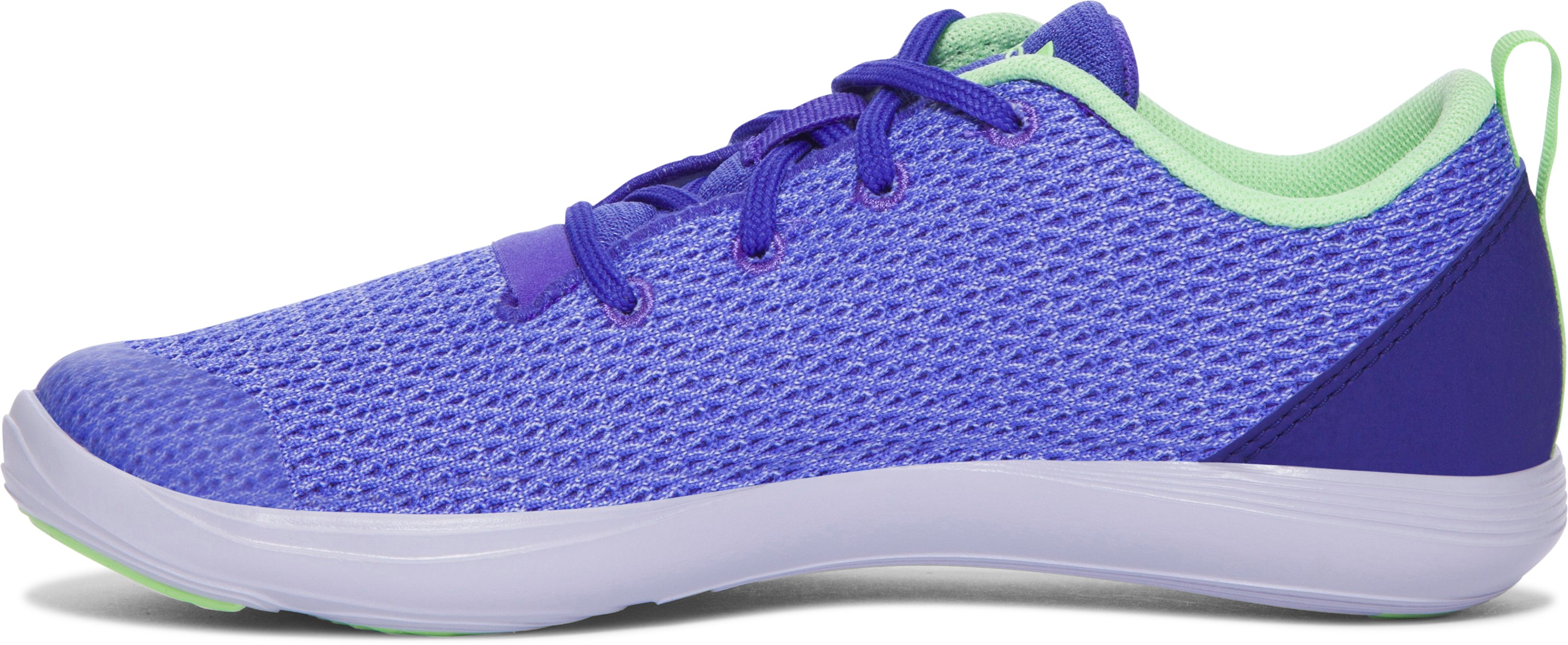 Girls' Pre-School UA Street Precision Sport Low Shoes, PURPLE CHIC,
