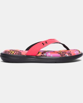 Girls' UA Marbella Geo Mix V Sandals   $17.99