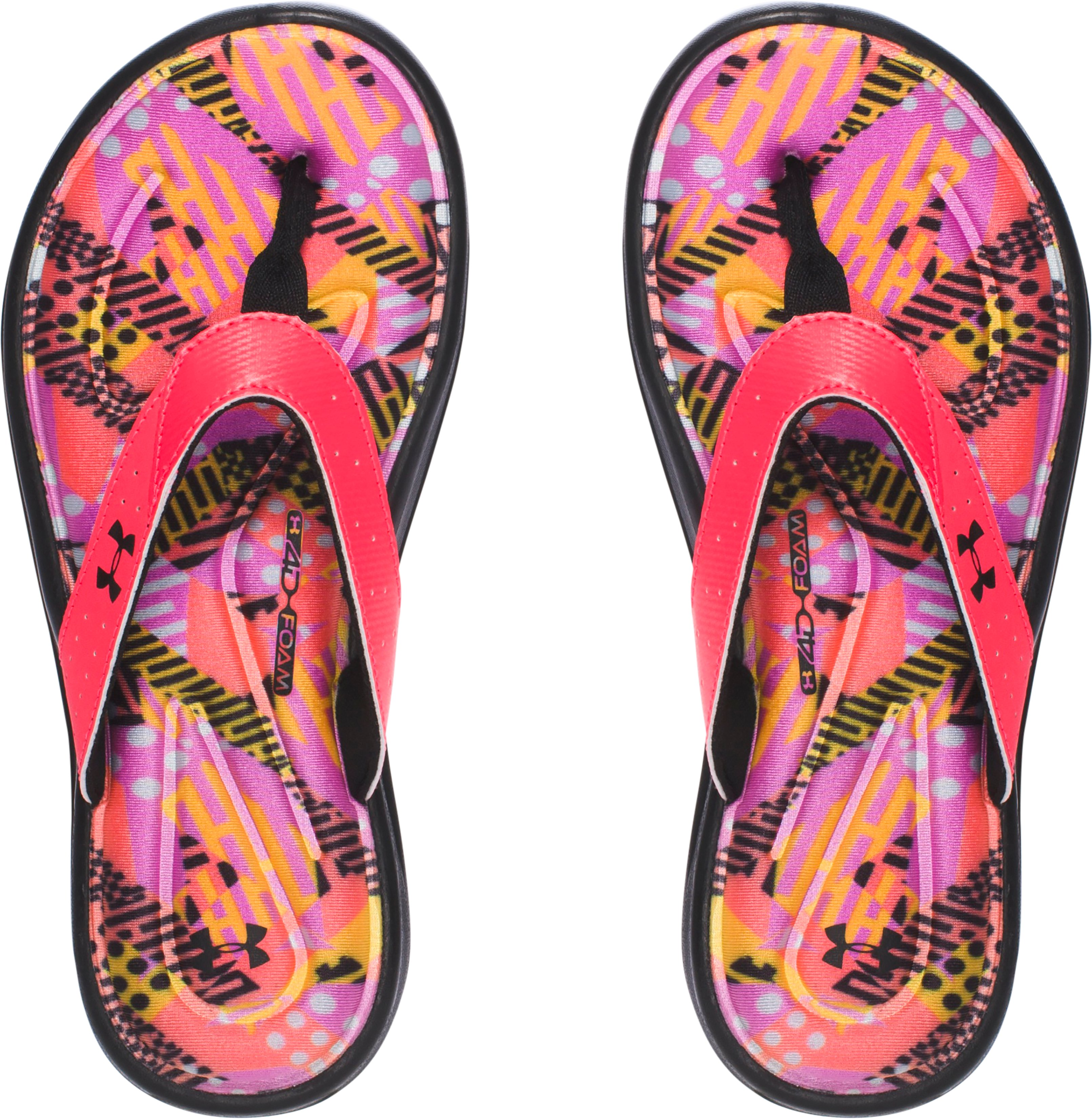 Girls' UA Marbella Geo Mix V Sandals, SIRENS CORAL, undefined