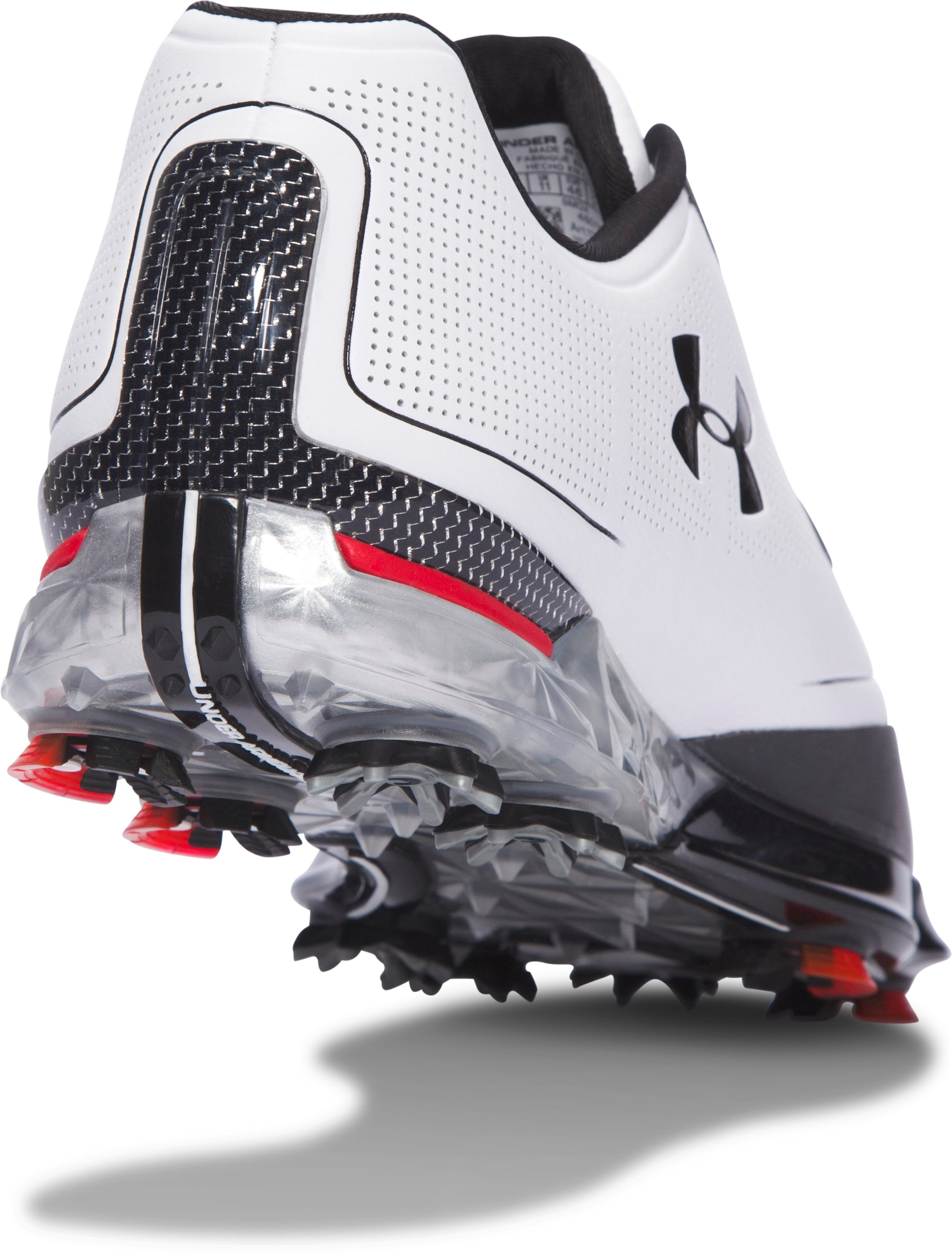 Men's UA Tour Tips Golf Shoes, White,