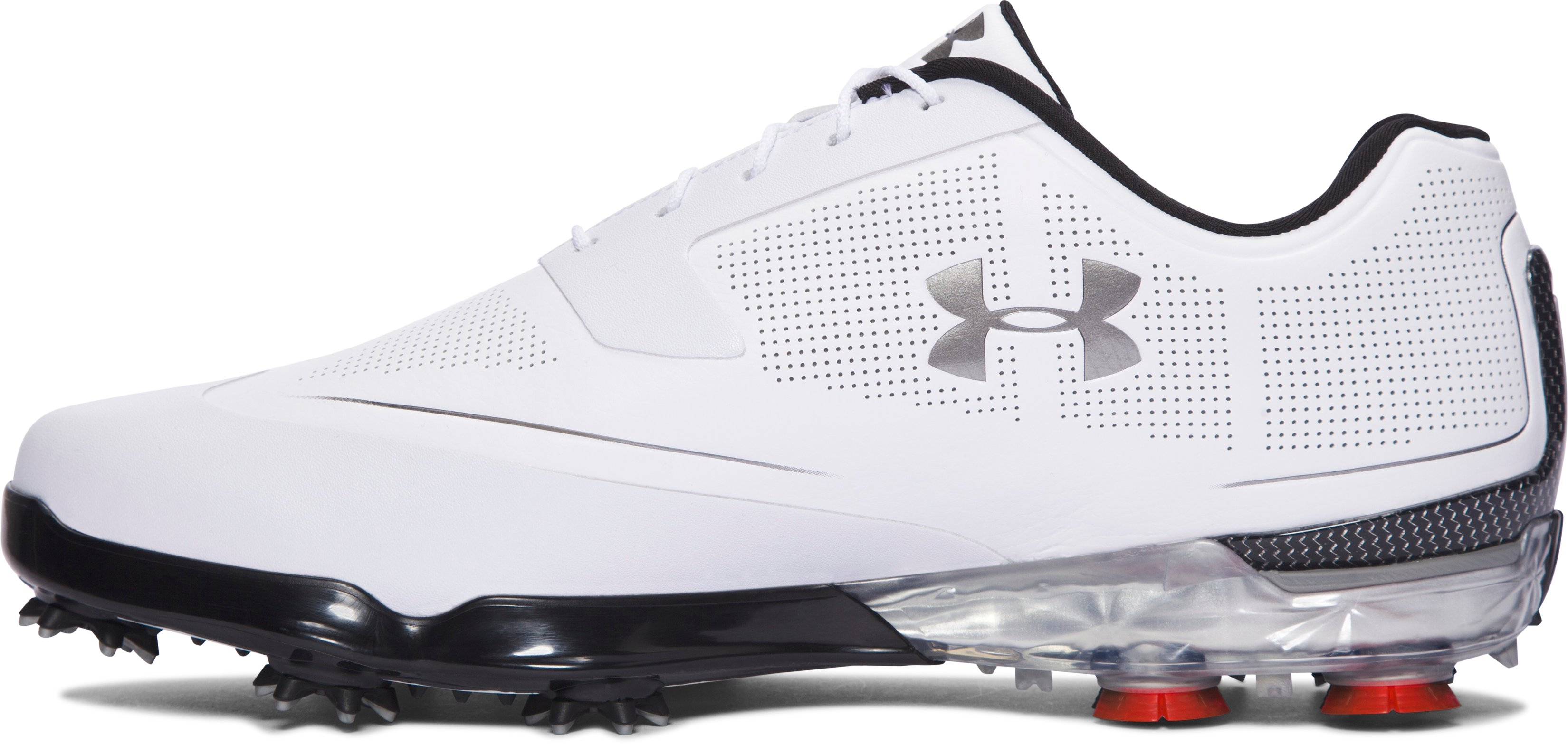 Men's UA Tour Tips Golf Shoes, White, undefined