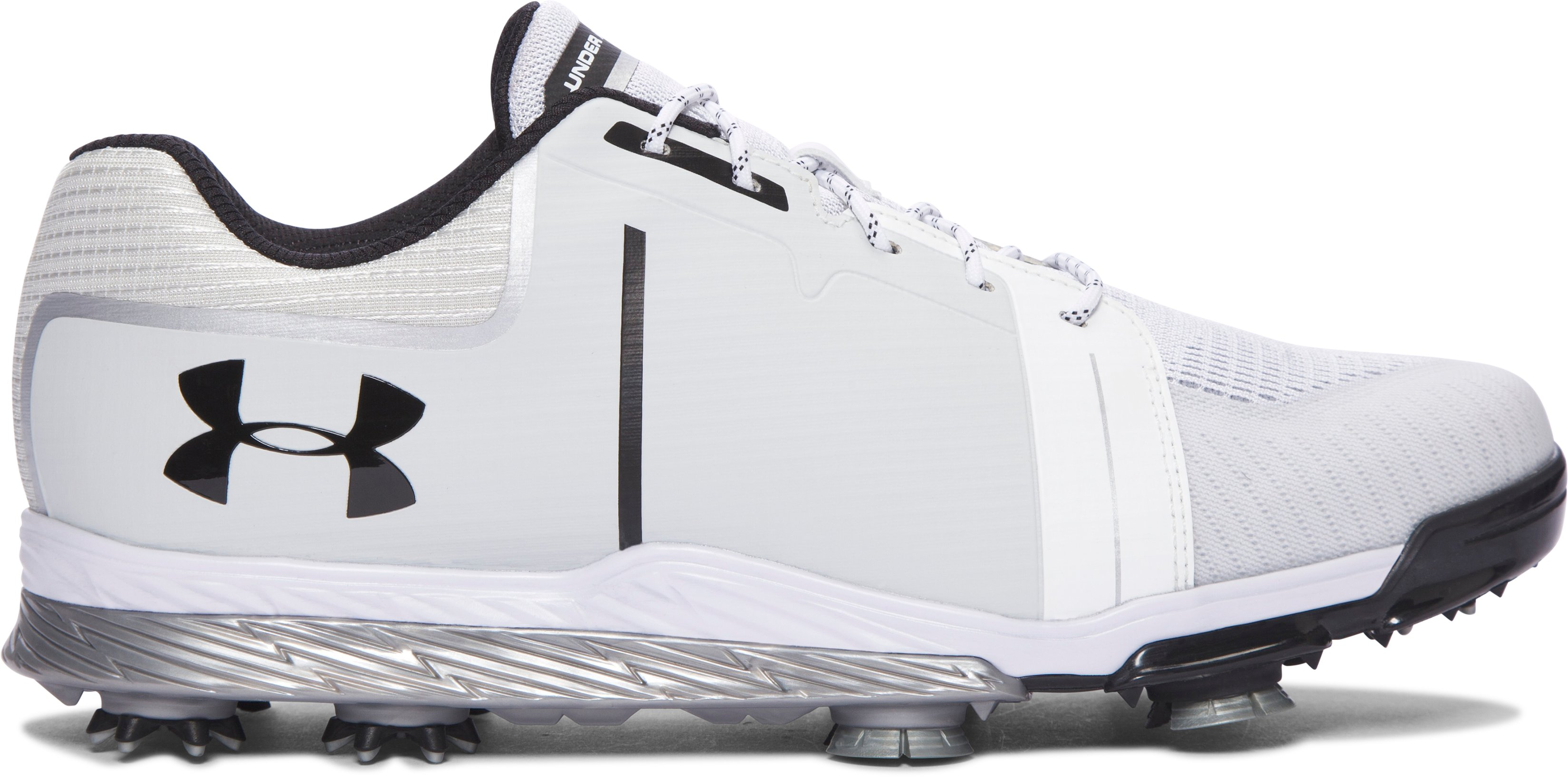Men's UA Tempo Sport Golf Shoes, White,