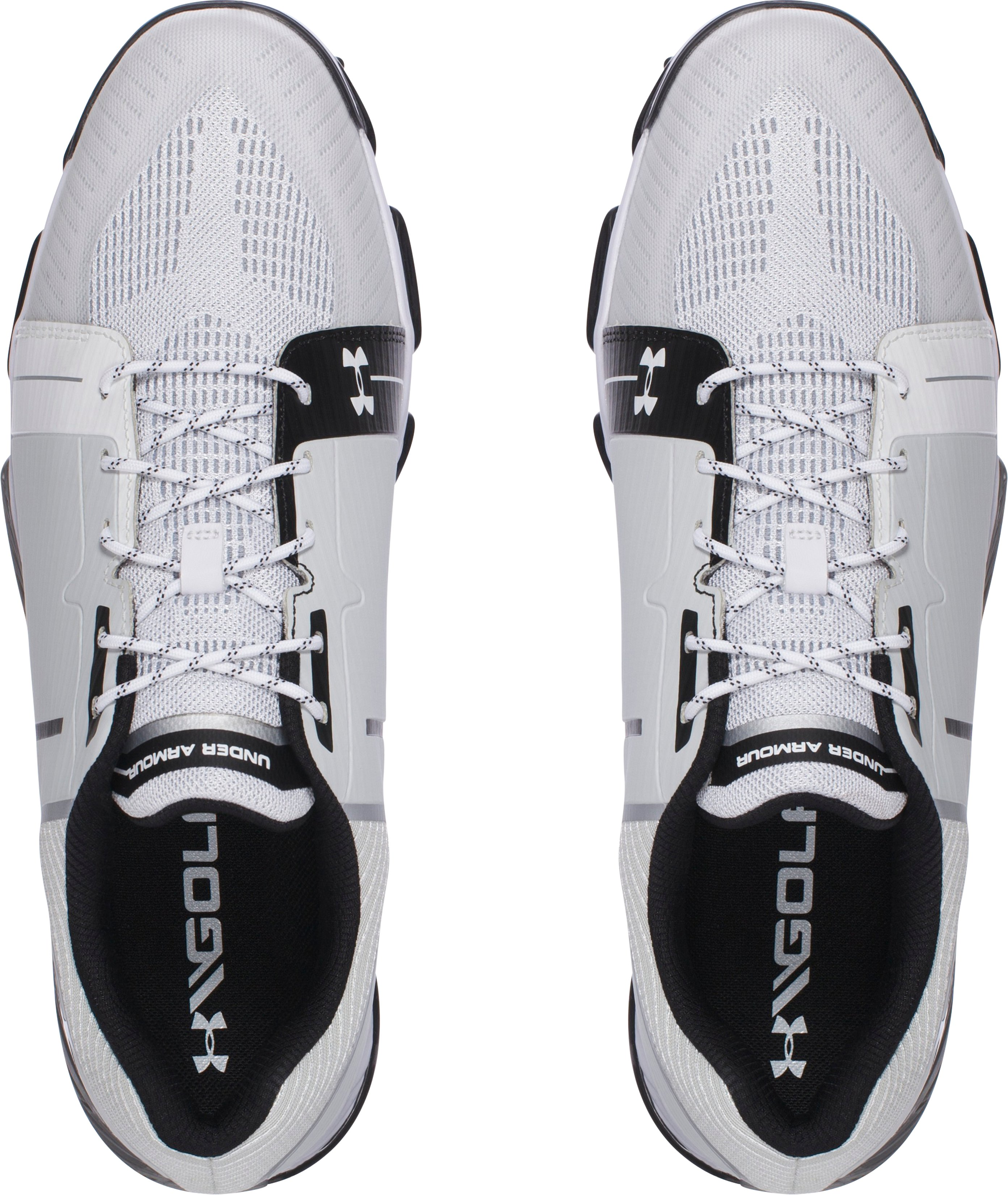 Men's UA Tempo Sport Golf Shoes, White, undefined