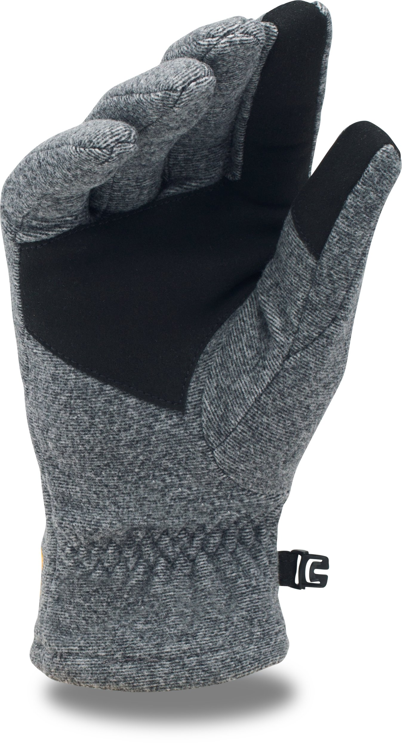 Men's NFL Combine Authentic UA ColdGear® Infrared Fleece Gloves, Green Bay Packers