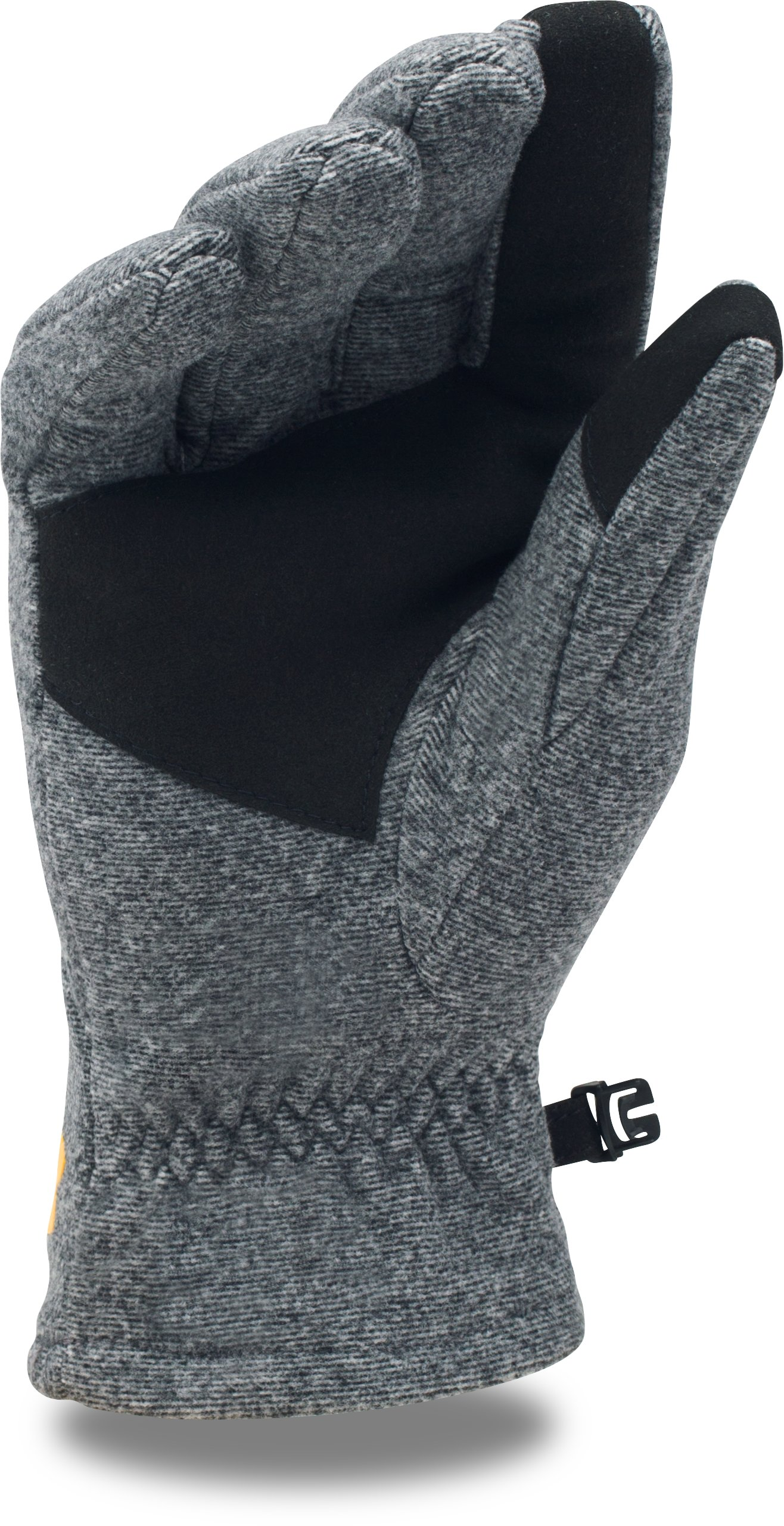 Kids' NFL Combine Authentic UA ColdGear® Infrared Fleece Gloves, Pittsburgh Steelers