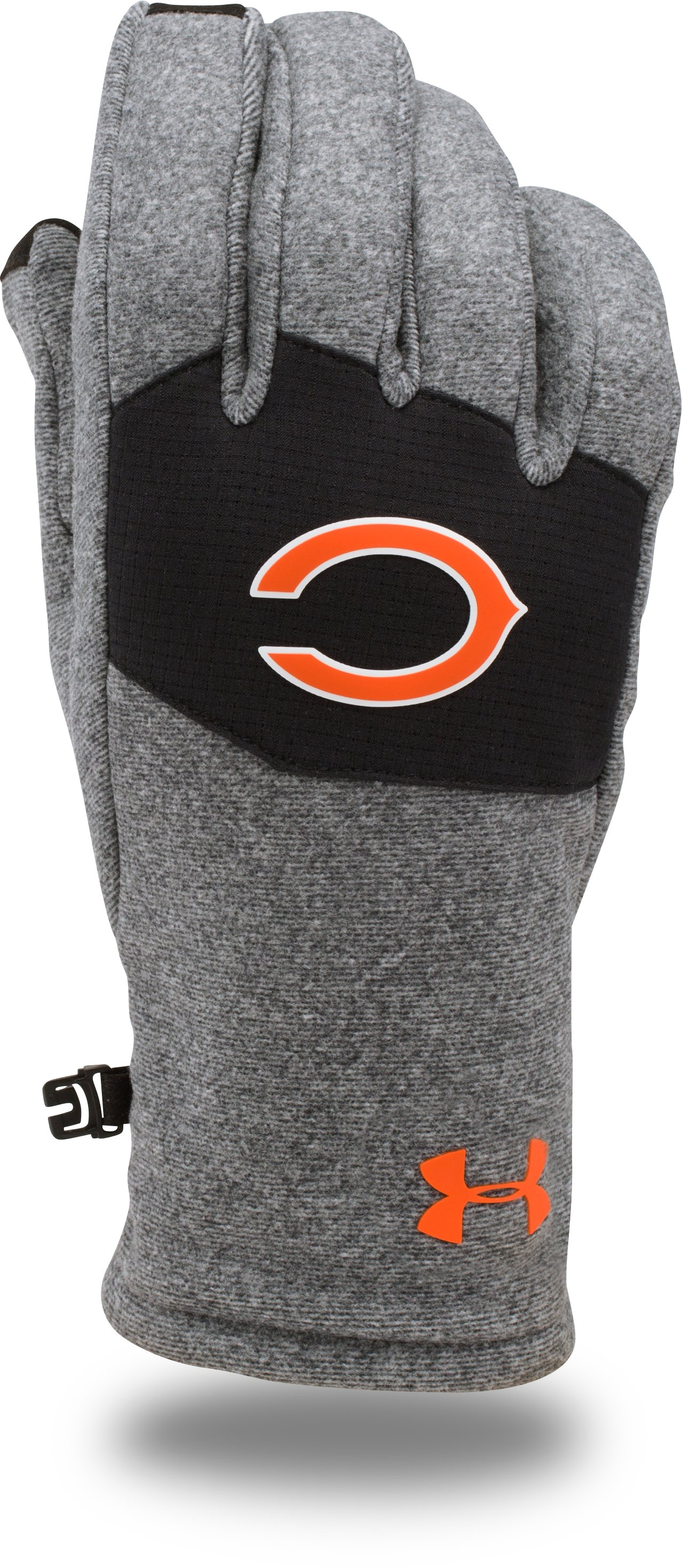 Kids' NFL Combine Authentic UA ColdGear® Infrared Fleece Gloves, Chicago Bears