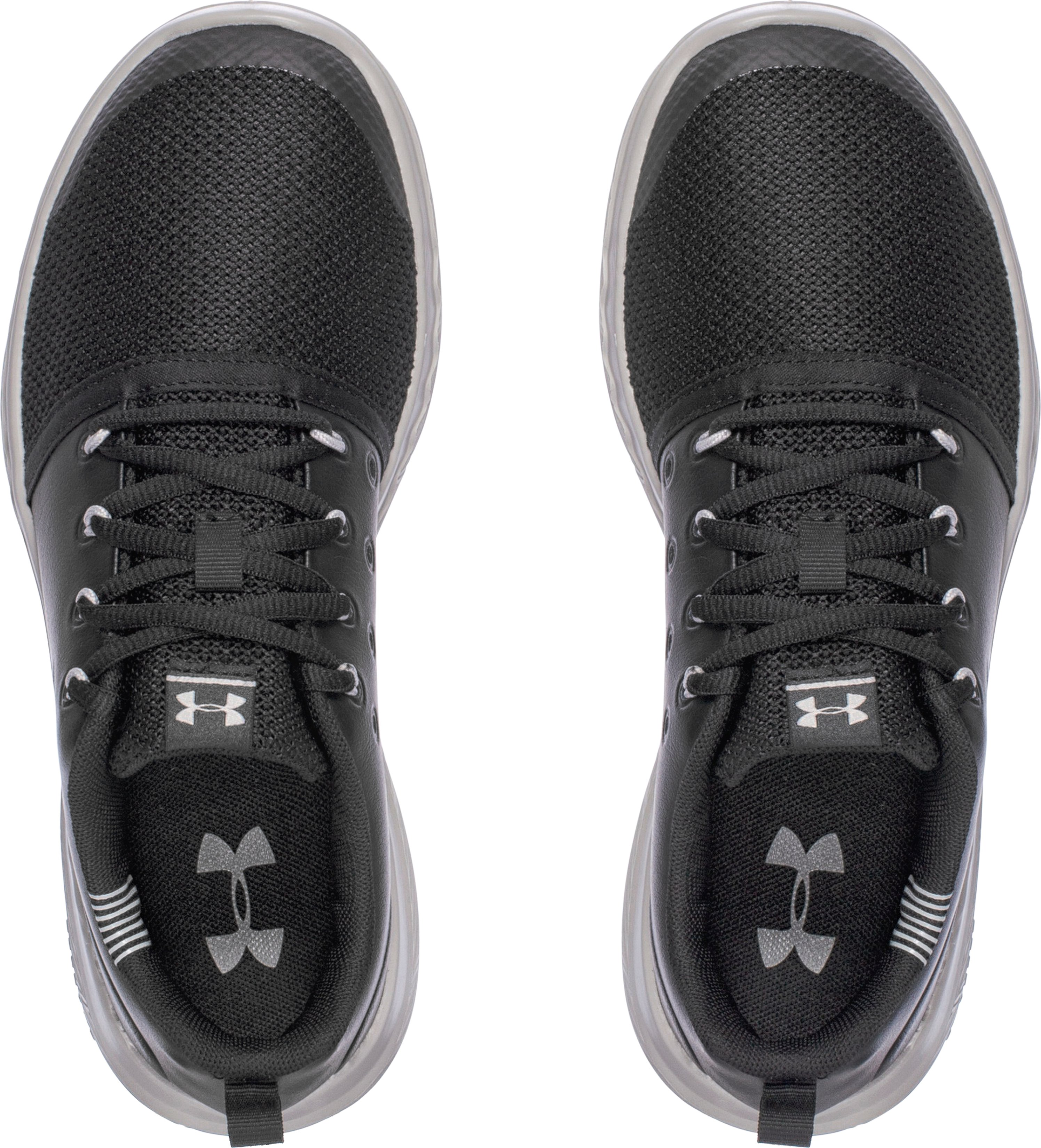Boys' Grade School UA Charged 24/7 Low Leather Shoes, Black