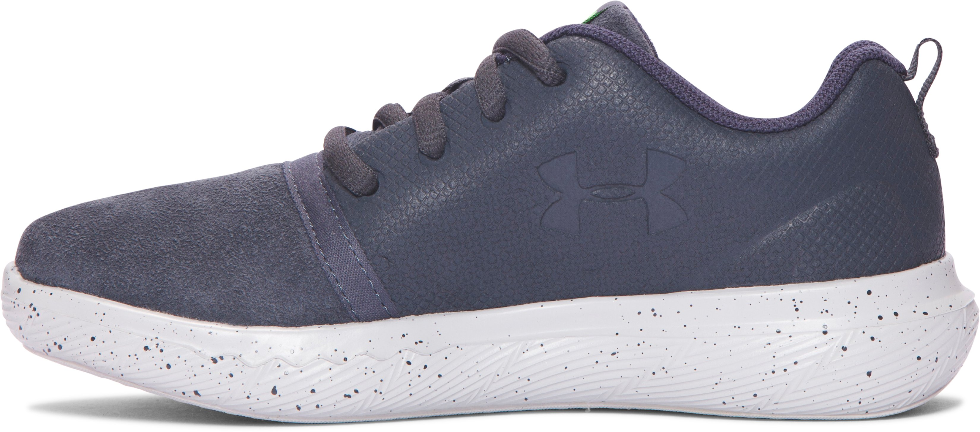Boys' Pre-School UA Charged 24/7 Low Suede Shoes, STEALTH GRAY