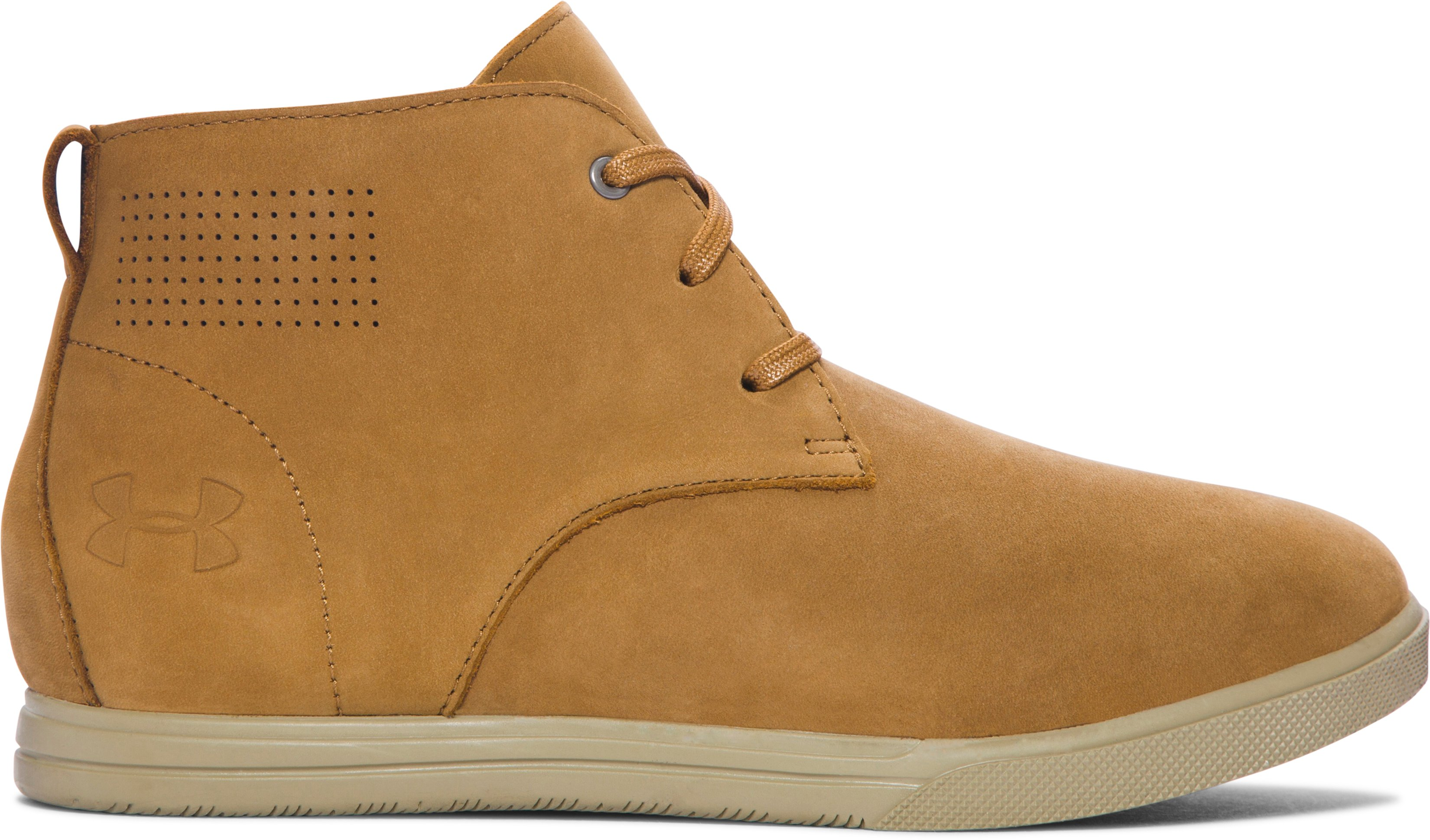 Kids' Grade School UA Coast Nubuck Shoes, Mahogany