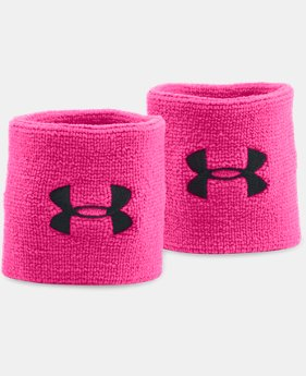 New Arrival Men's UA Power In Pink® Performance Wristbands  1 Color $7.99
