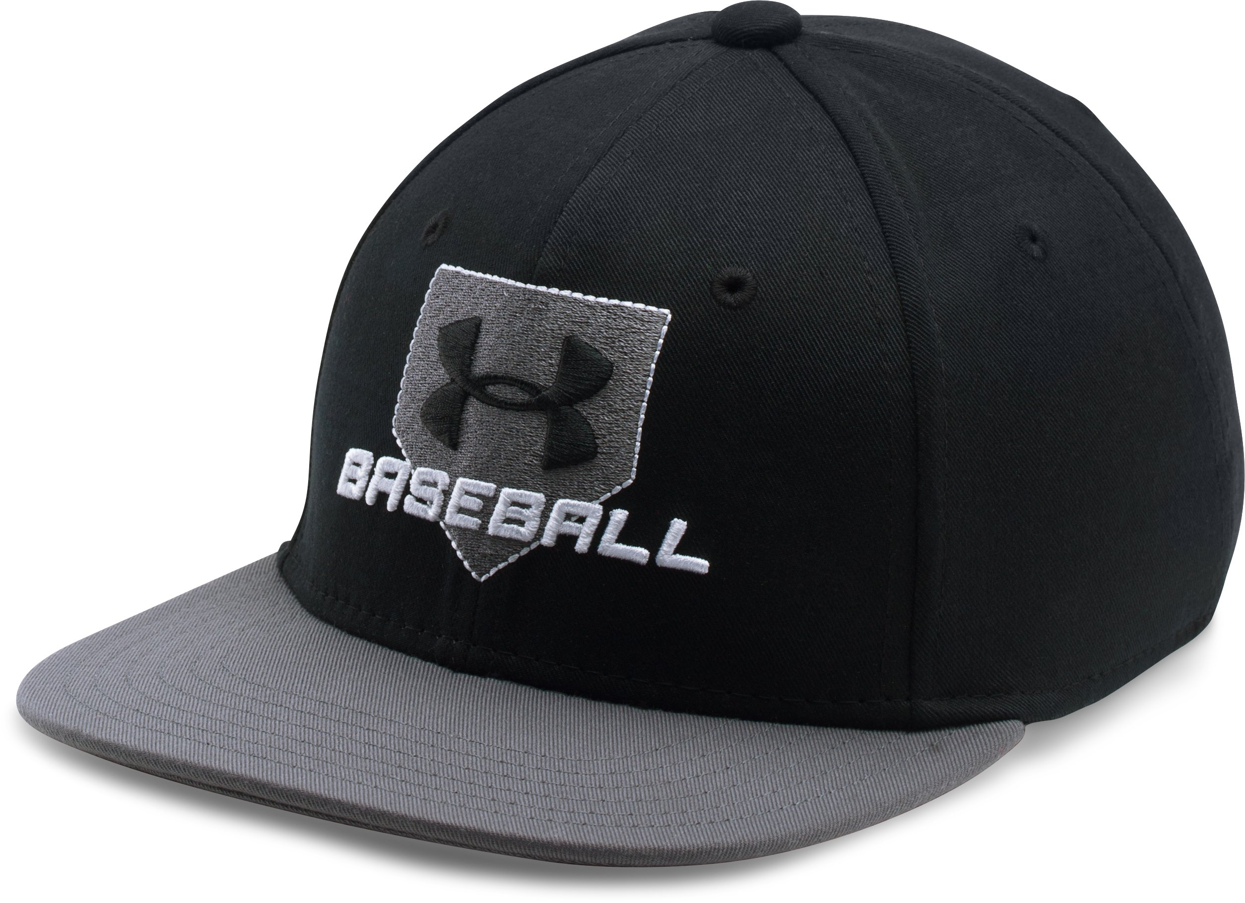 Boys' UA Baseball Embossed Cap, Black