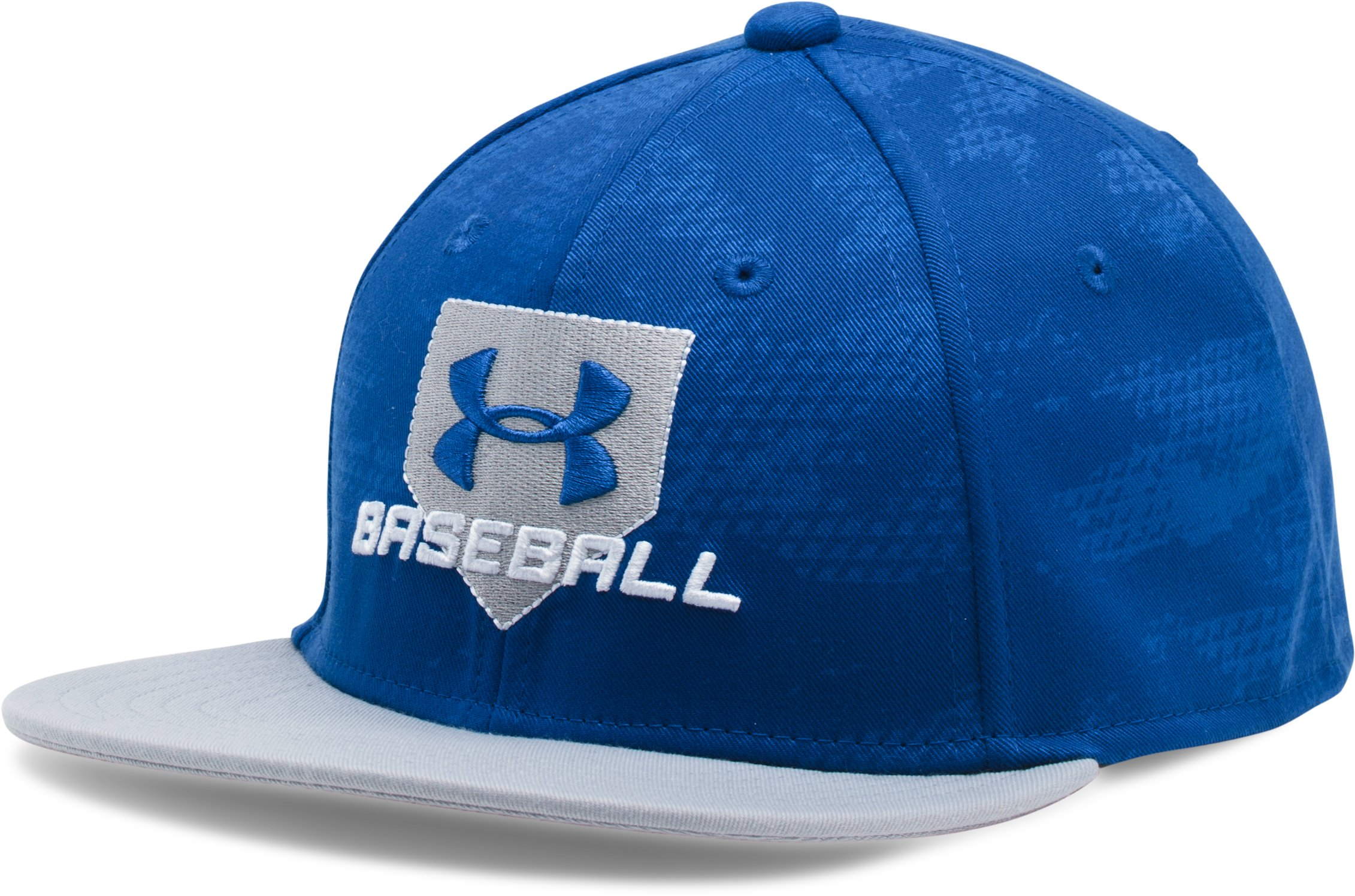 Boys' UA Baseball Embossed Cap, Royal