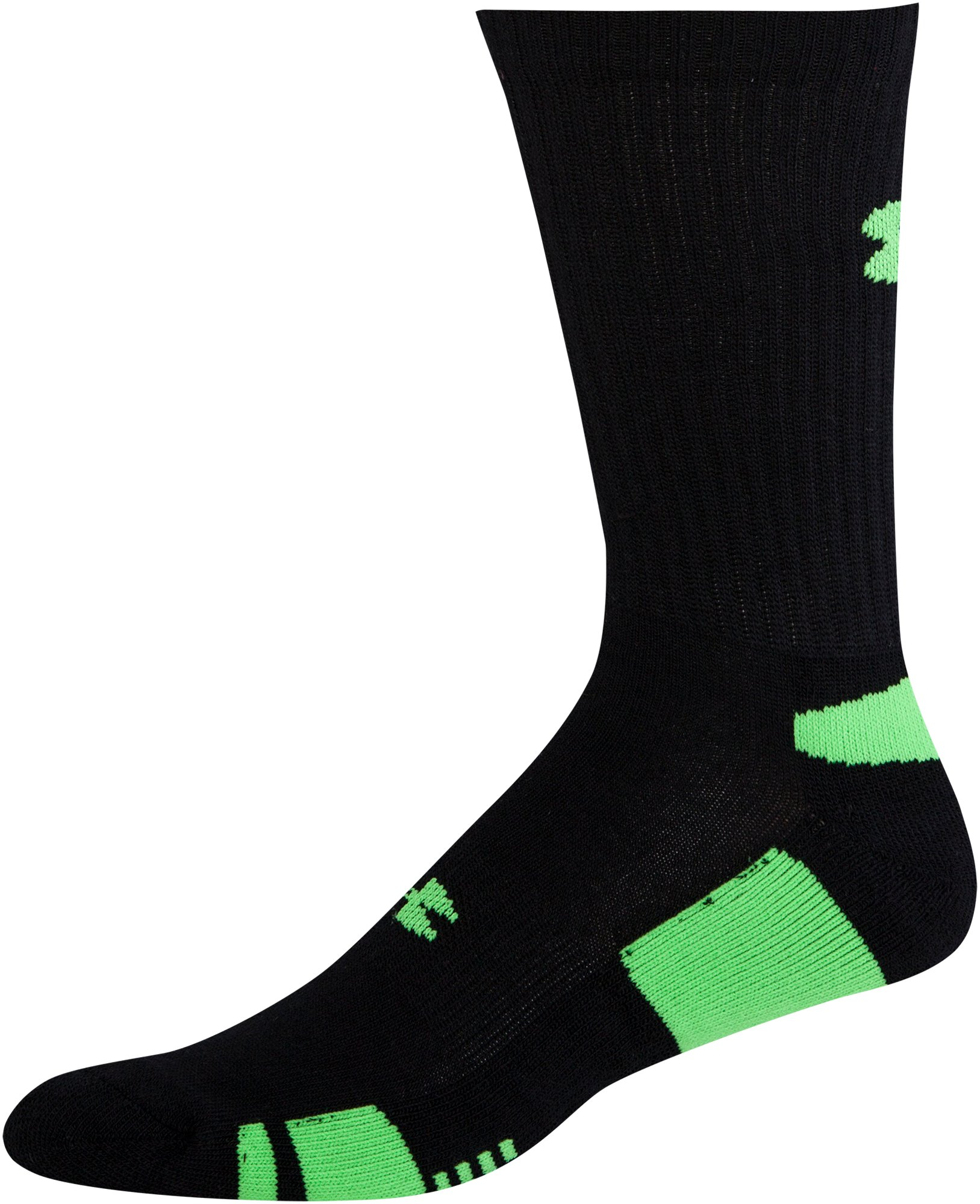 Men's UA HeatGear® Crew Socks 3-Pack, Black ,