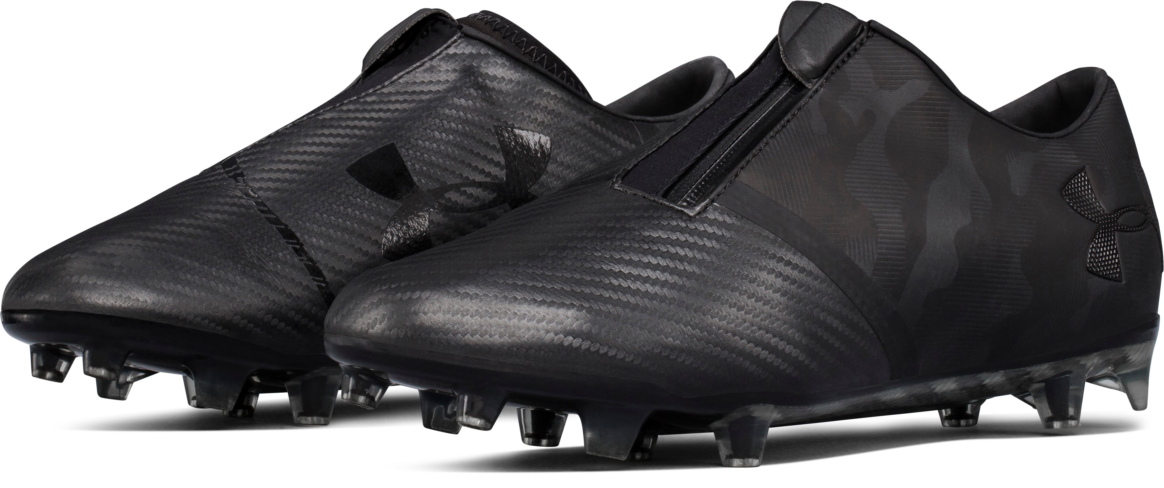 Men's UA Spotlight Firm Ground Soccer Cleats, Black