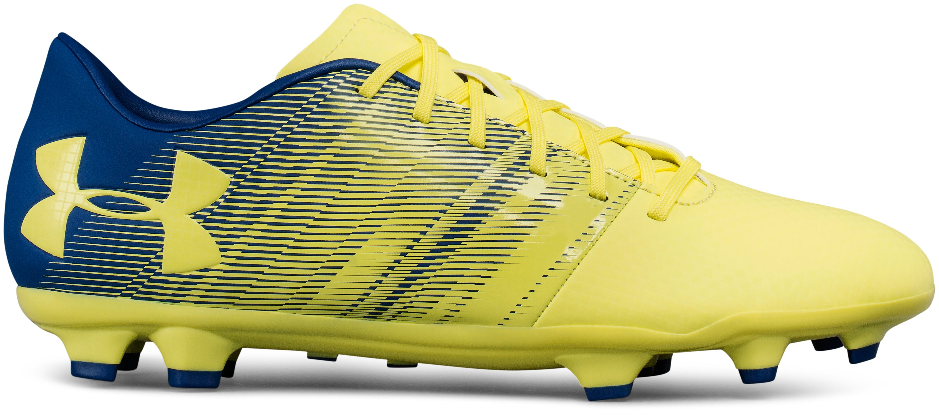 Men's UA Spotlight DL Firm Ground Soccer Cleats, TOKYO LEMON, undefined