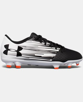 New to Outlet Kids' UA Spotlight DL Firm Ground Jr. Soccer Cleats  1 Color $33.74