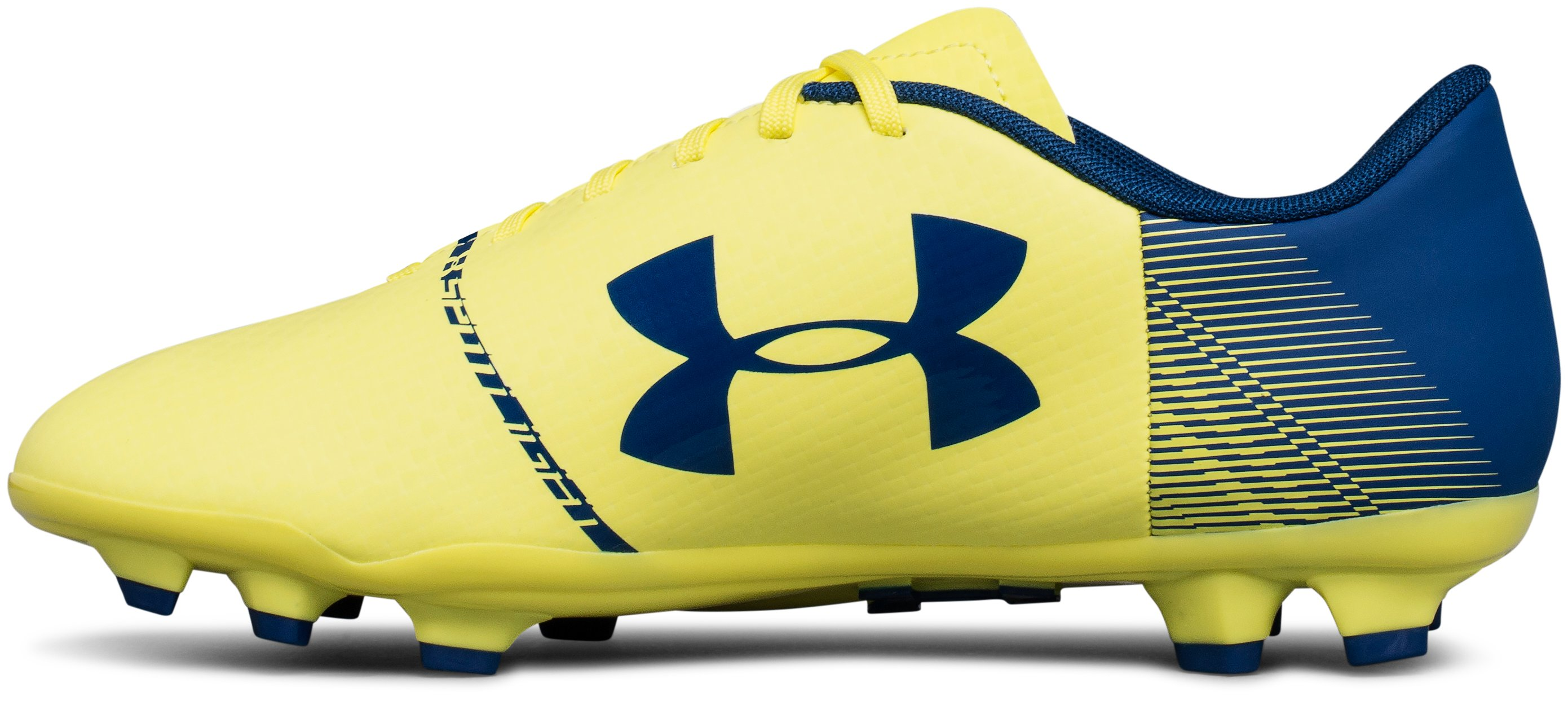 Kids' UA Spotlight DL Firm Ground Jr. Soccer Cleats, TOKYO LEMON,