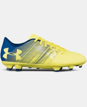 Kids' UA Spotlight DL Firm Ground Jr. Soccer Cleats  3  Colors Available $44.99