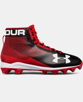 Men's UA Hammer™ Mid Rubber Molded Football Cleats  2  Colors Available $64.99
