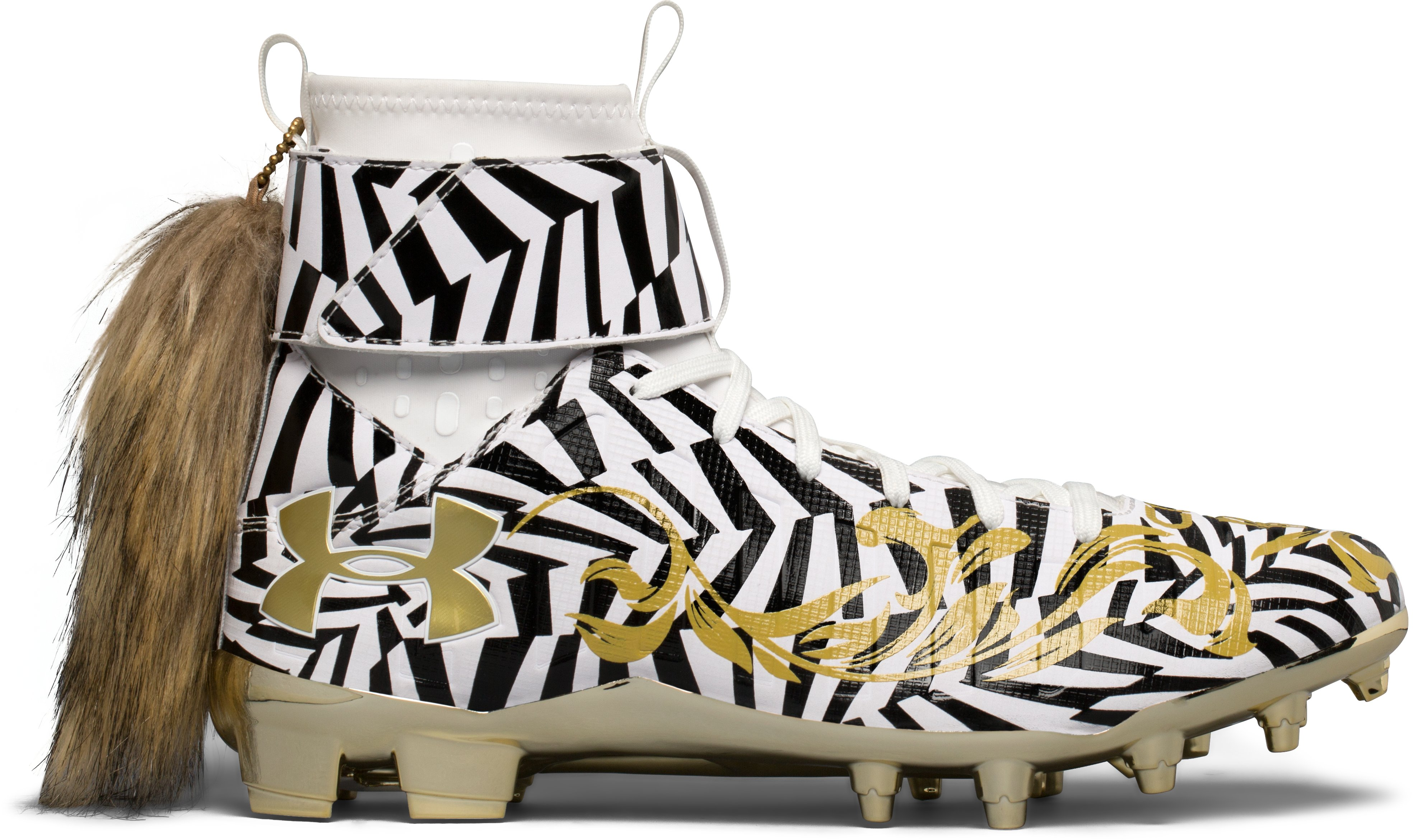 Men's UA C1N MC Football Cleats — Limited Edition, White,