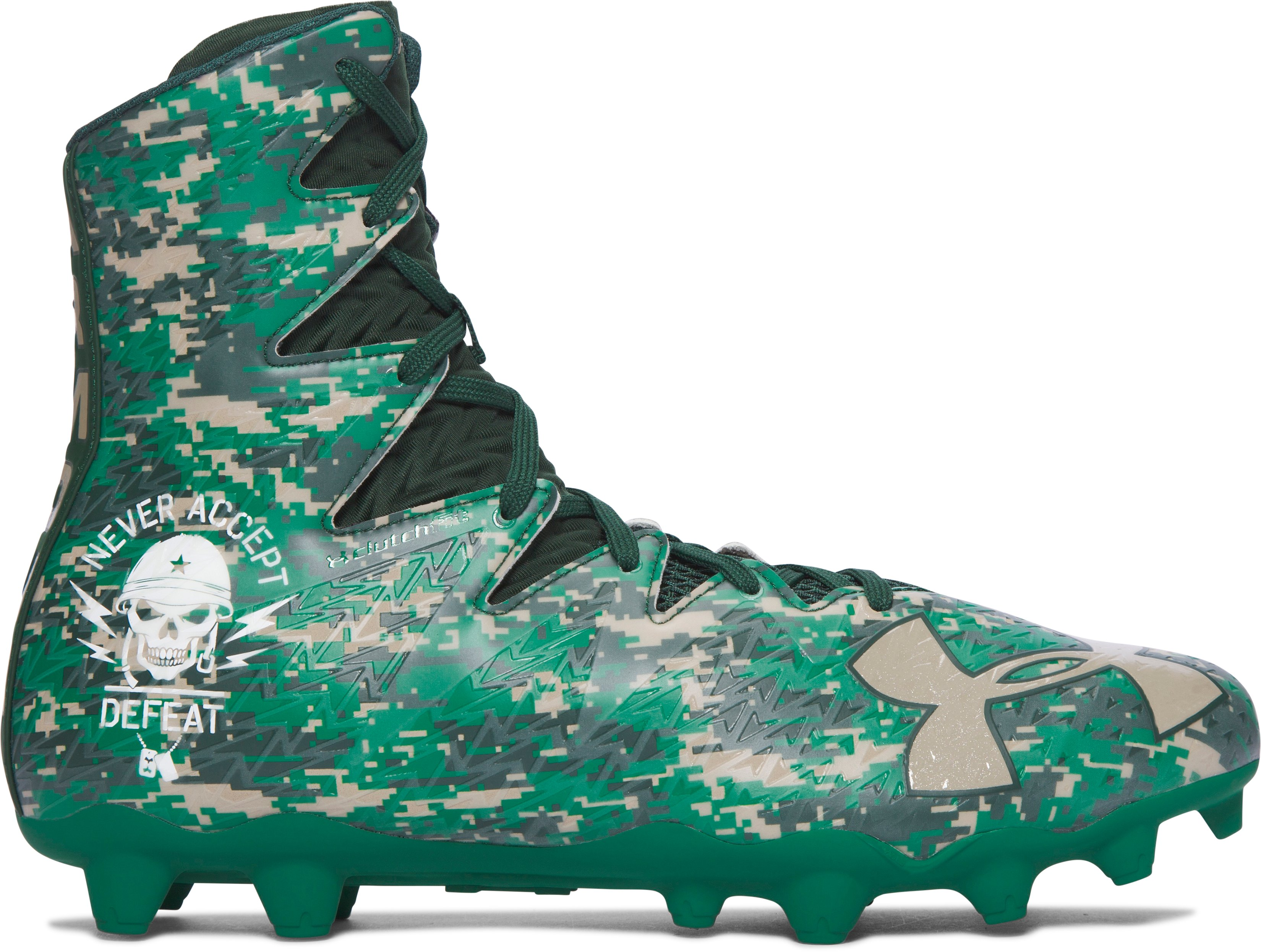 Men's UA Highlight MC – Limited Edition Football Cleats, Forest Green, zoomed image