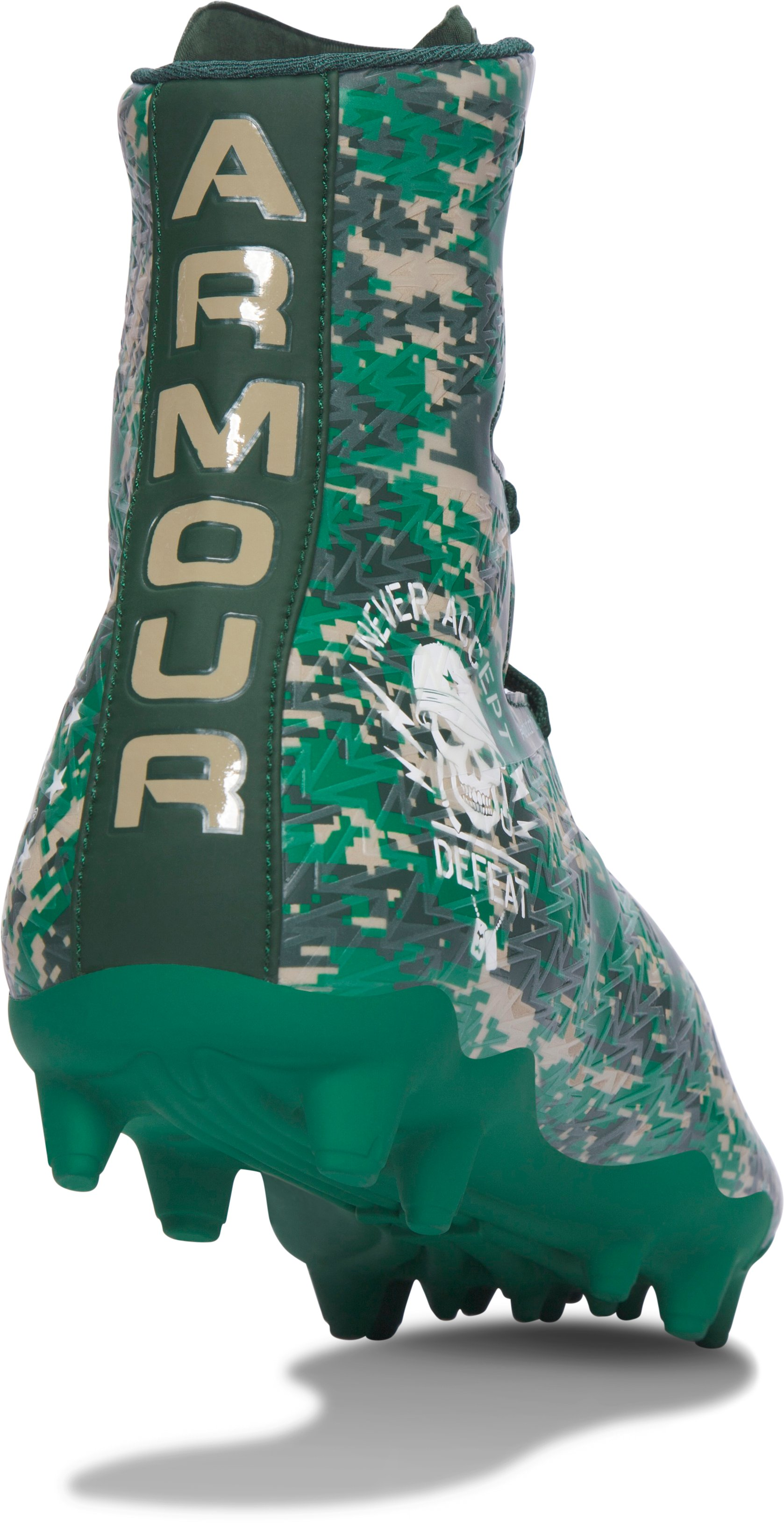 Men's UA Highlight MC — Limited Edition Football Cleats, Forest Green