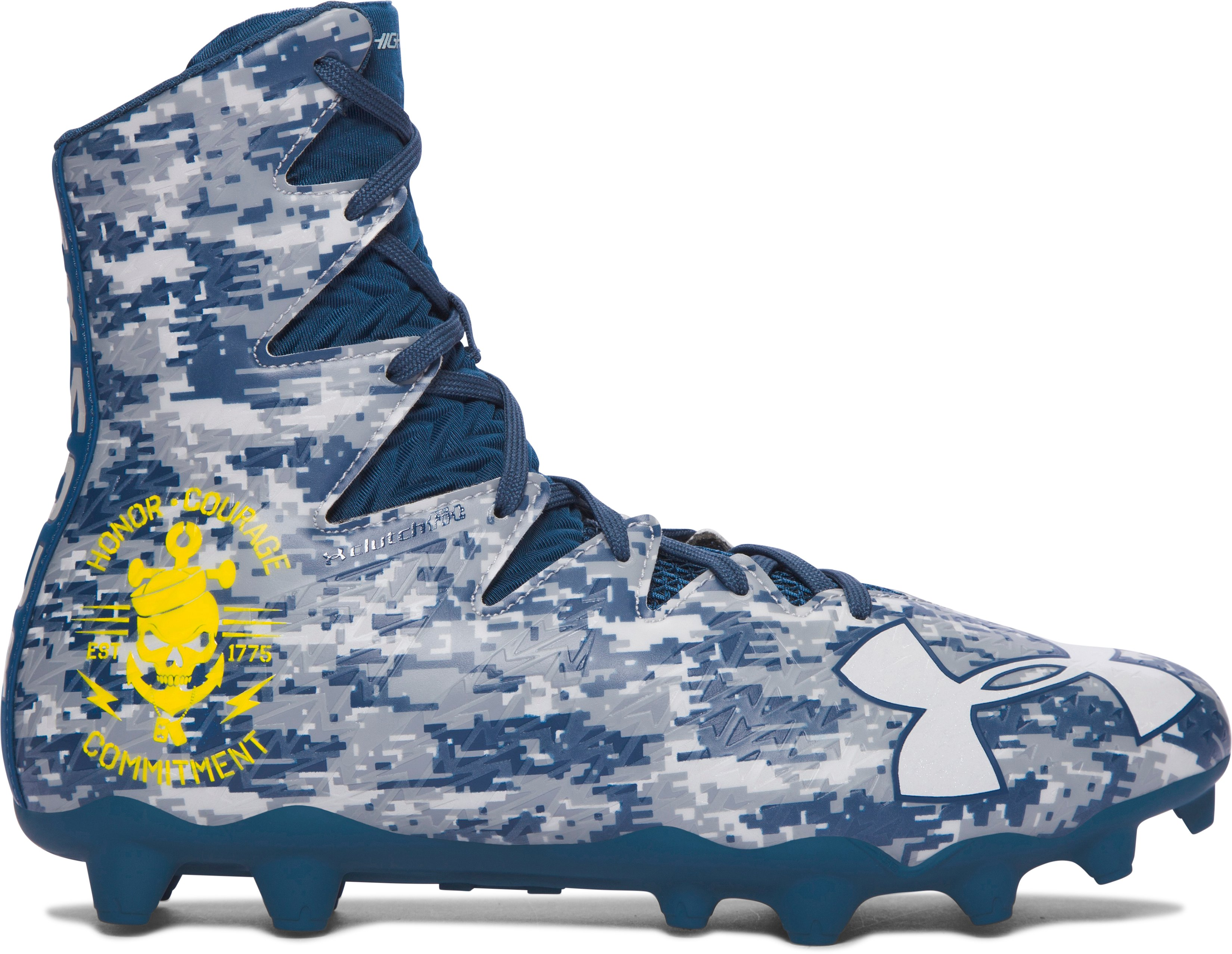 Men's UA Highlight MC — Limited Edition Football Cleats, PETROL BLUE,