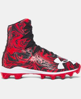Boys' UA Highlight Lux Jr. Rubber Molded Football Cleats   $54.99