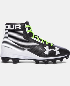 Boys' UA Hammer™ Mid Rubber Molded Jr. Football Cleats  3  Colors Available $44.99