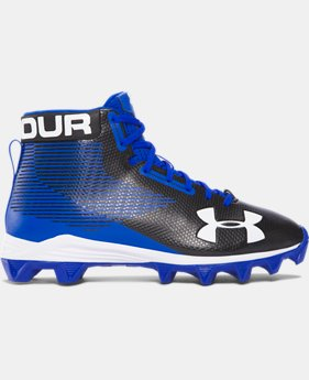 Boys' UA Hammer™ Mid Rubber Molded Jr. Football Cleats   $44.99